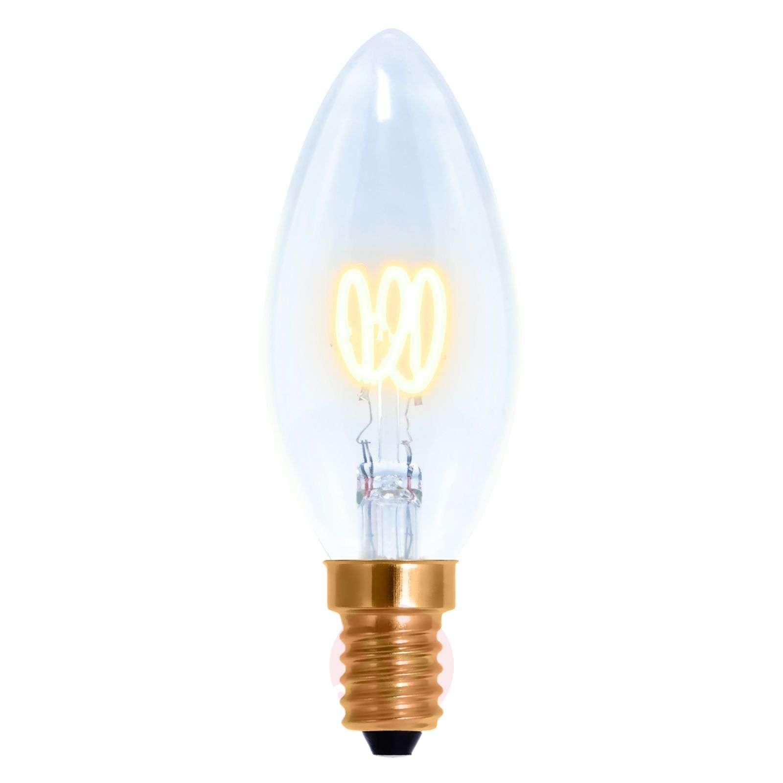 LED-filamentti-kynttilä Curved Line E14 2,7W 922-8536158-01