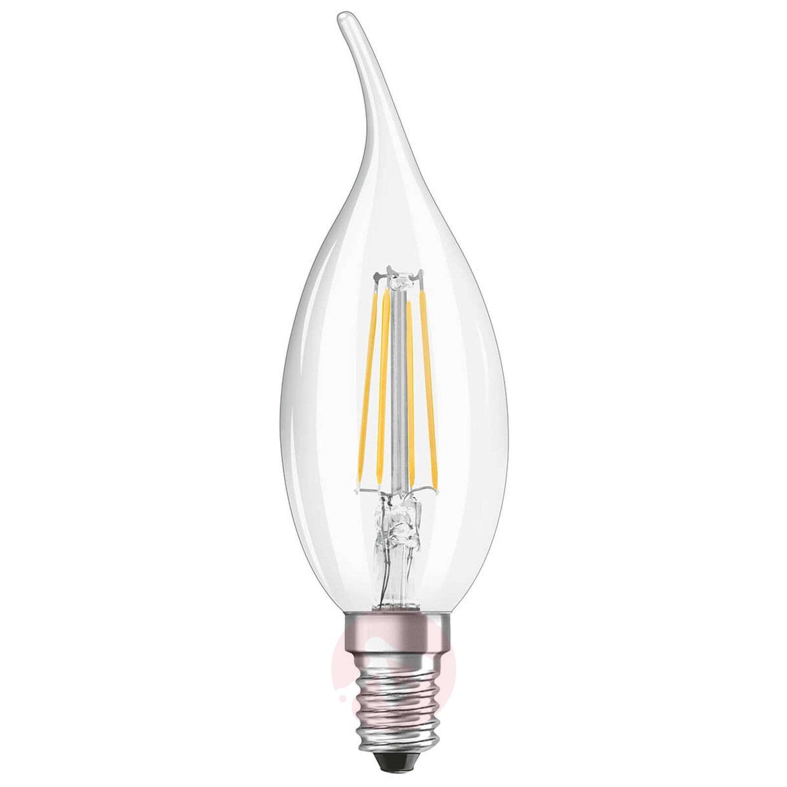 LED-hehkulankakynttilälamppu E14 4 W, lämmin valk.-7262023-01