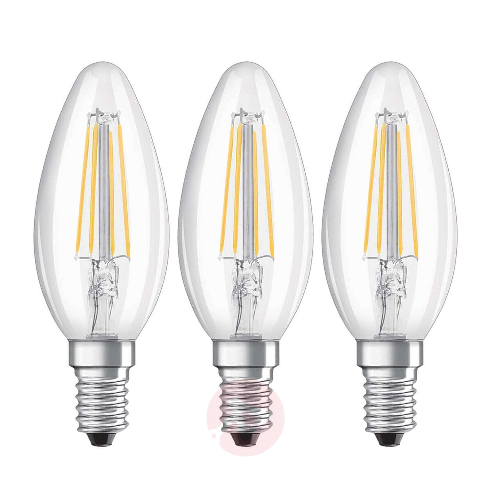 LED-hehkulankalamppu E14 4 W, lämmin valk., 3 kpl-7262098-01