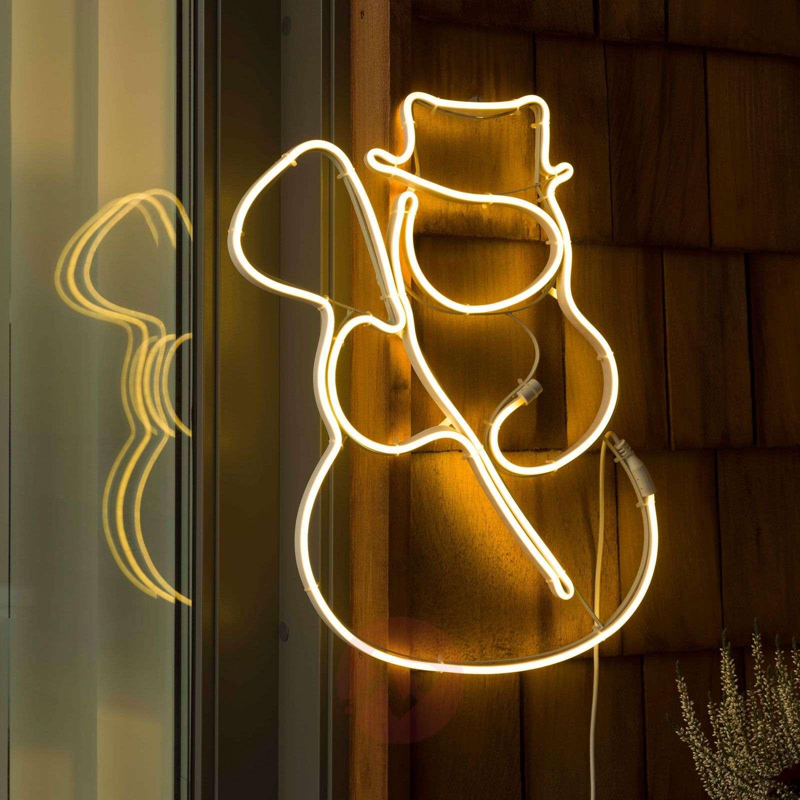 LED-ikkunakuva putkisilhuetti Lumiukko-5524940-01