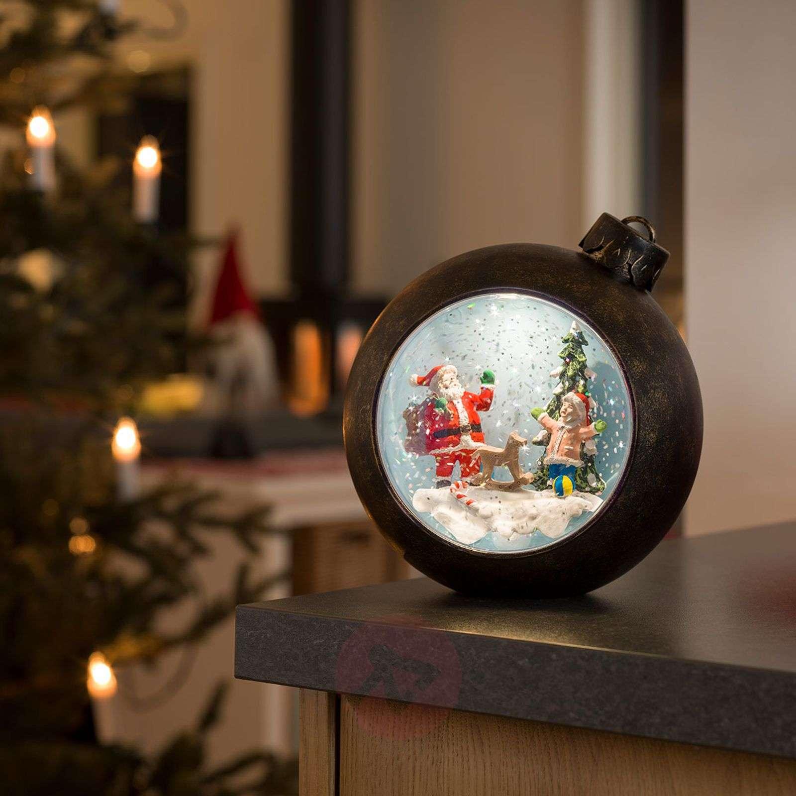 LED joulukuusen pallo joulupukki+lapset, vesitäyt.-5524865-01