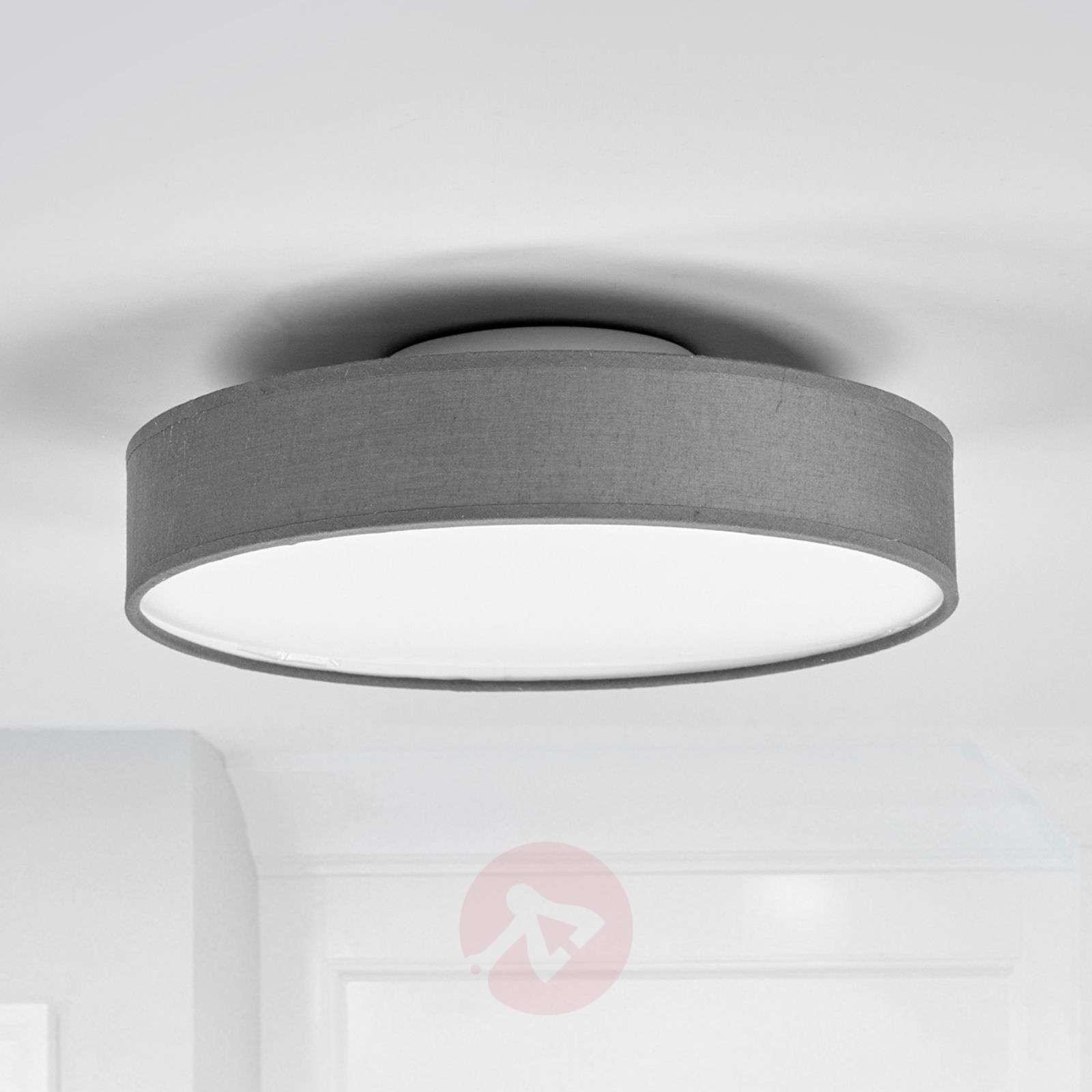 LED-kangaskattolamppu Saira, 30 cm, harmaa