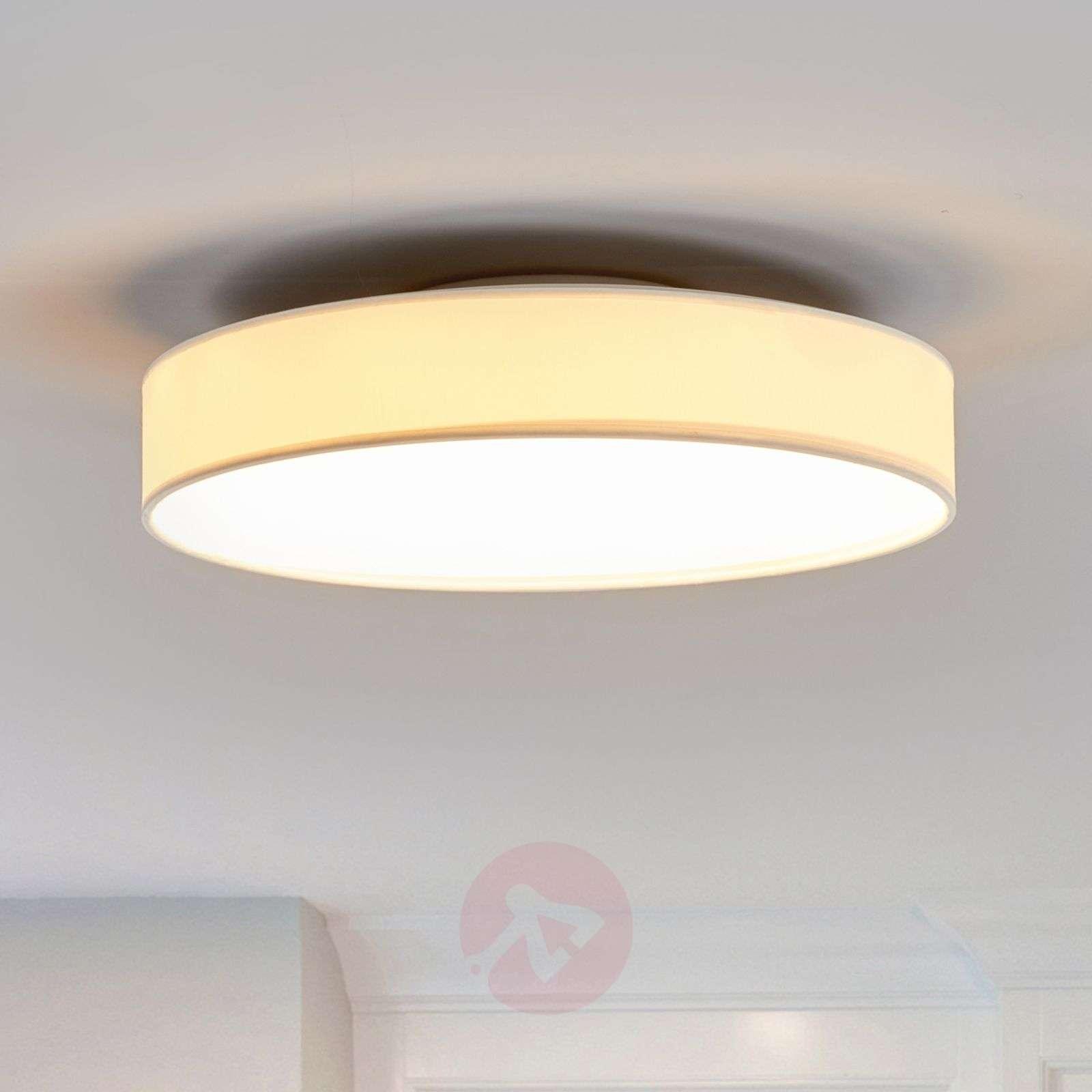 LED-kangaskattolamppu Saira, 40 cm, valkoinen