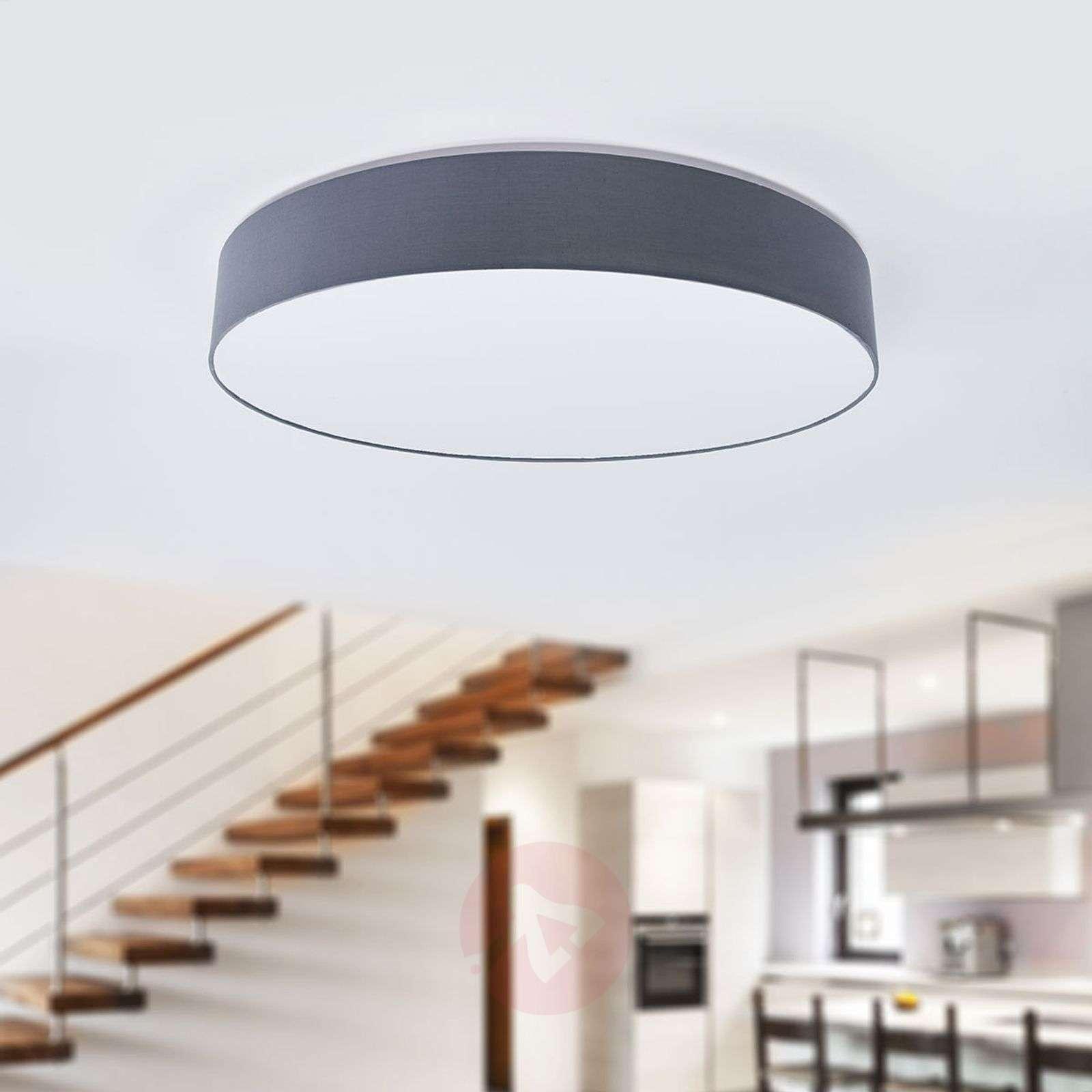LED-kangaskattovalaisin Ziola, pyöreä, harmaa-4018149-02