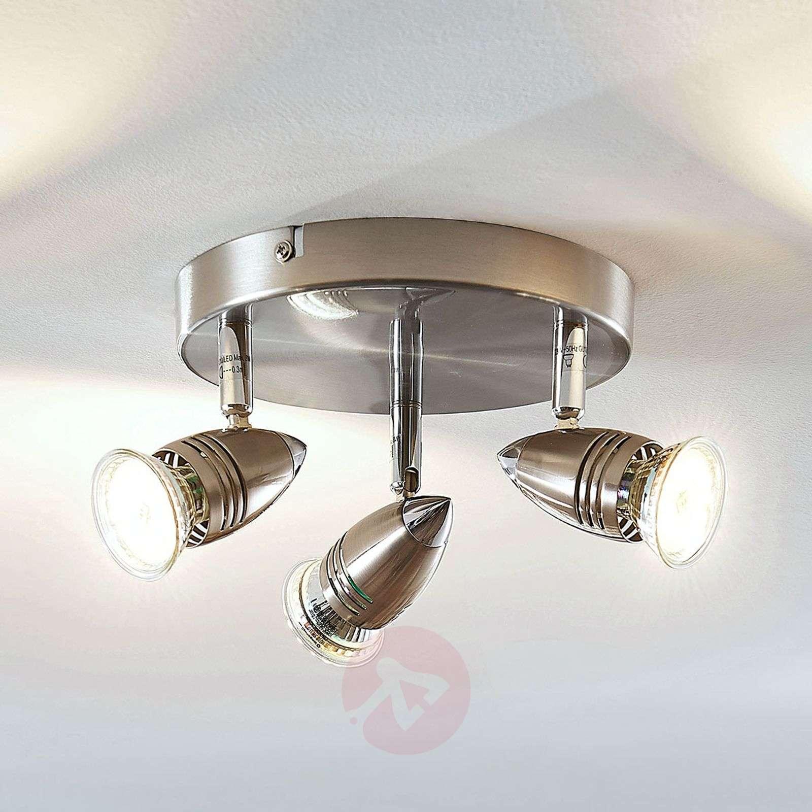 LED-kattokohdevalo Benina, 3-lamppuinen, pyöreä-9950686-01