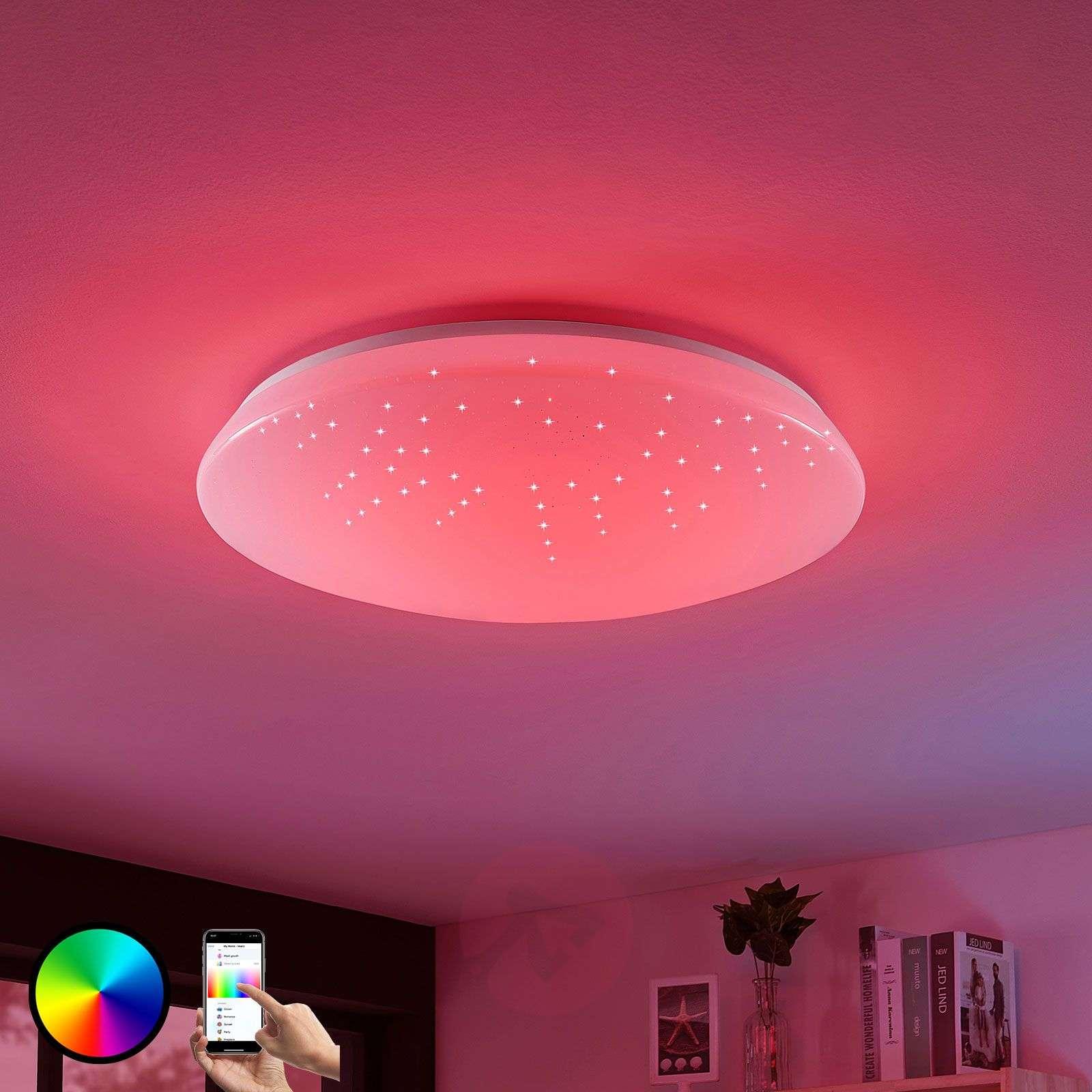 LED-kattolamppu Jelka, WiZ, RGBW-värin vaihto-8032184-02