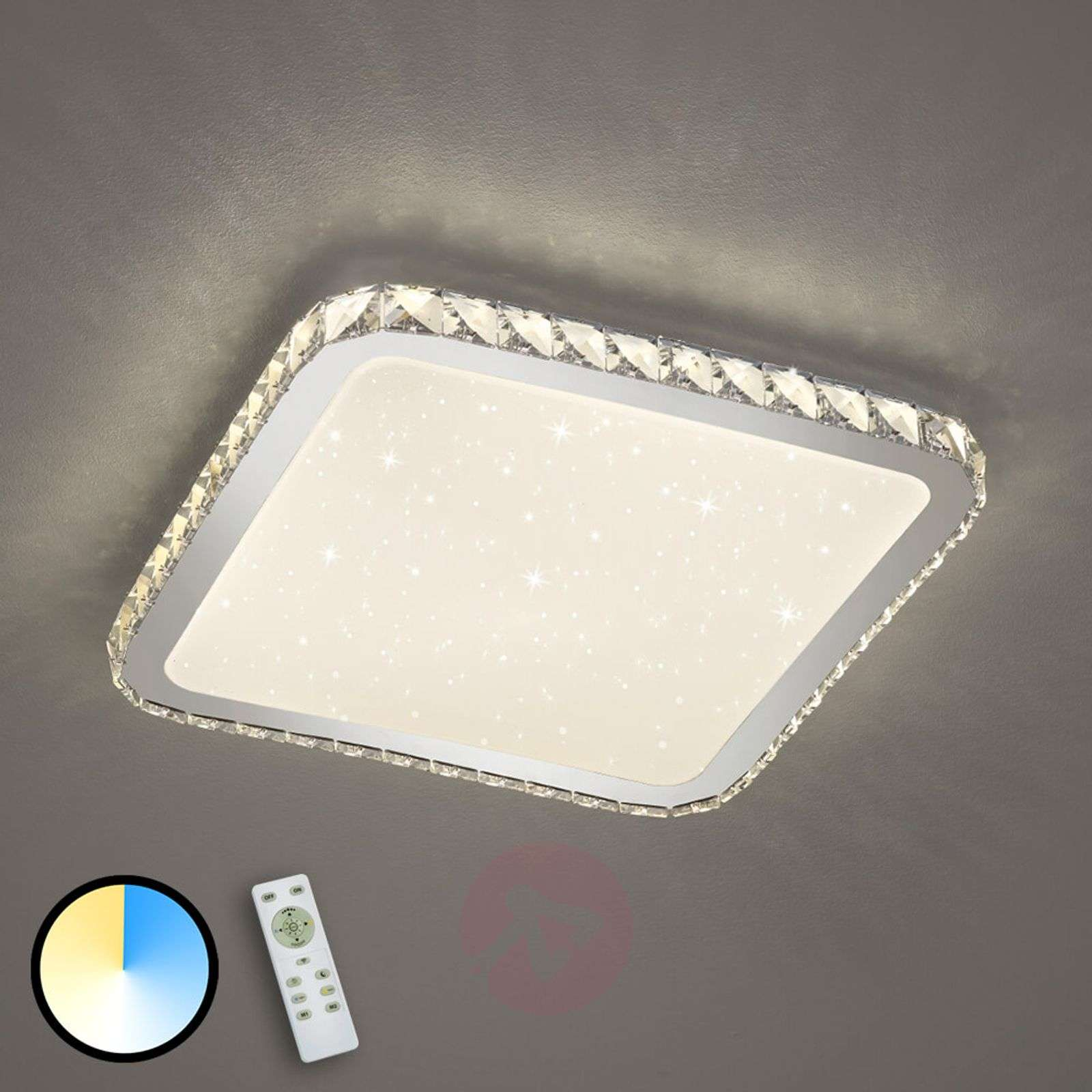 LED-kattolamppu Sapporo jossa tähtikansi