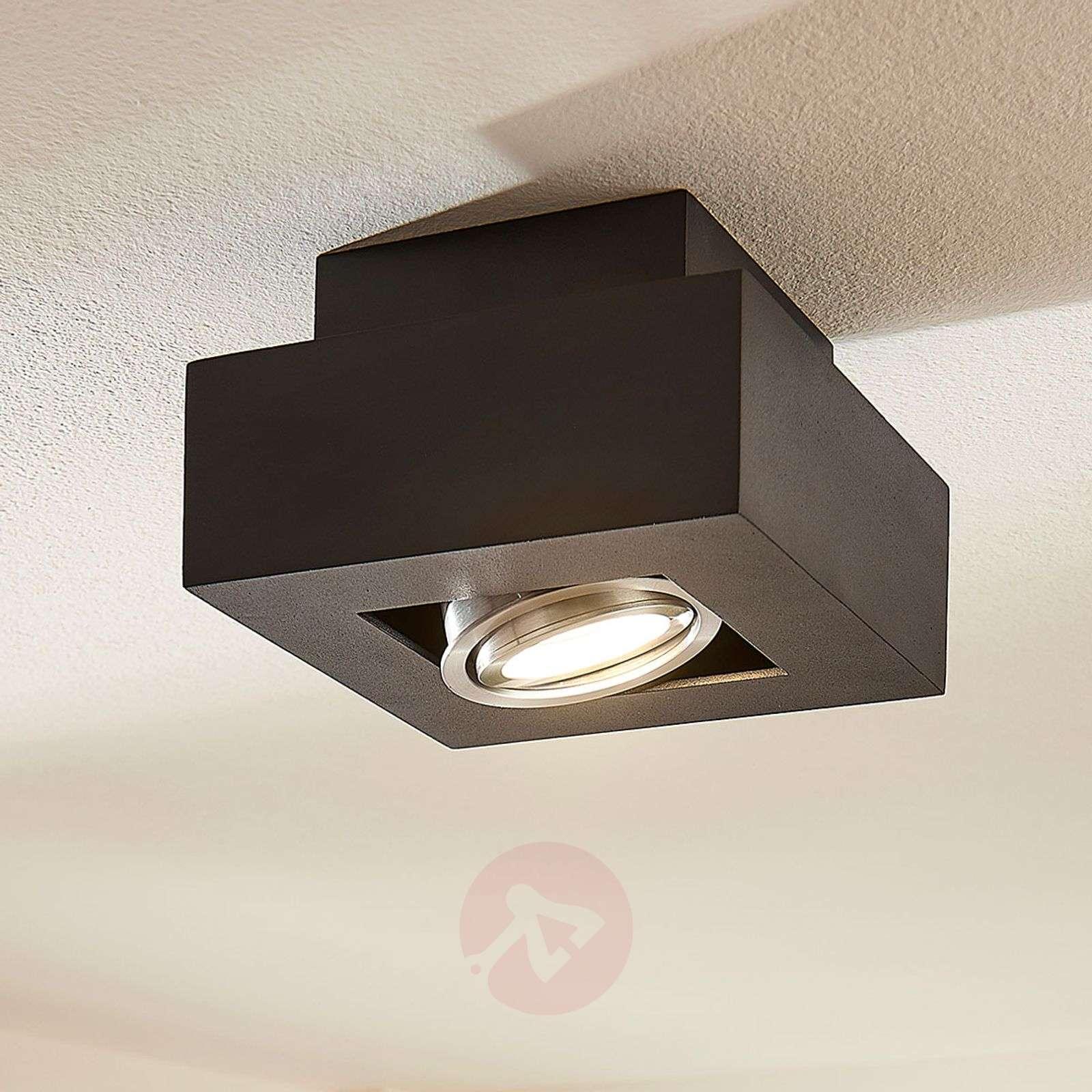 LED-kattolamppu Vince, 14 x 14 cm musta-9621706-01