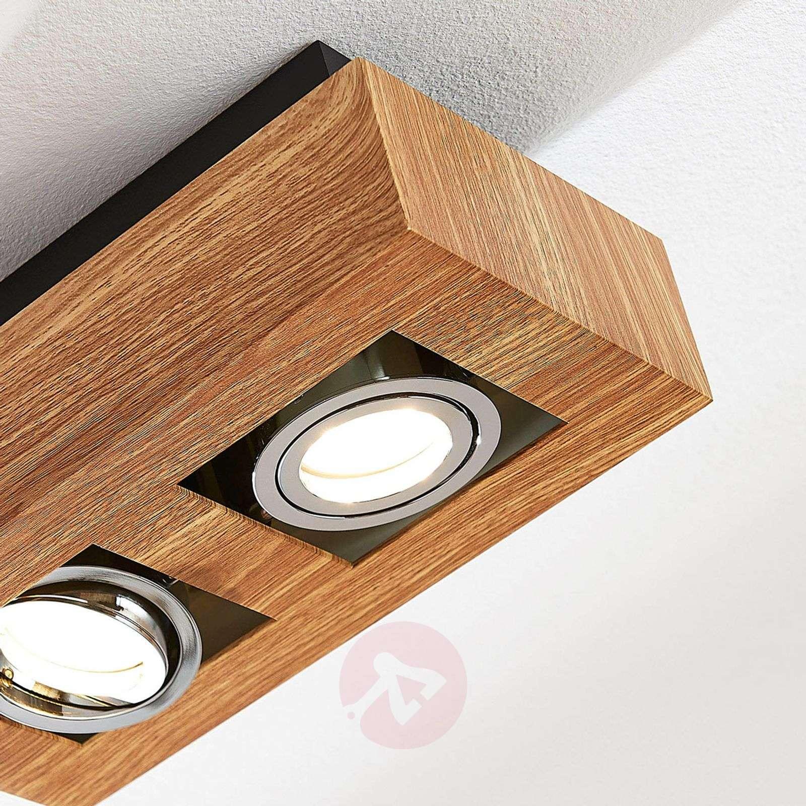 LED-kattolamppu Vince, 25 x 14 cm puuta-9621713-03