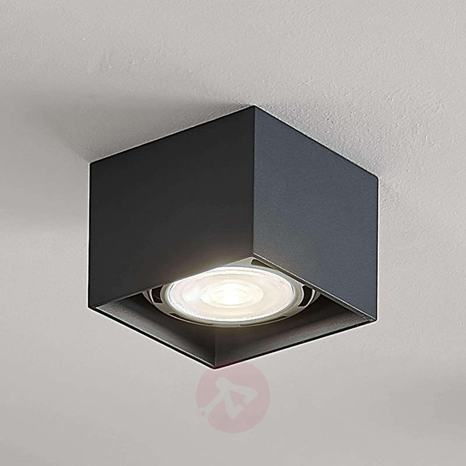 LED-kattospotti Mabel, kulmikas, harmaa-9621917-02