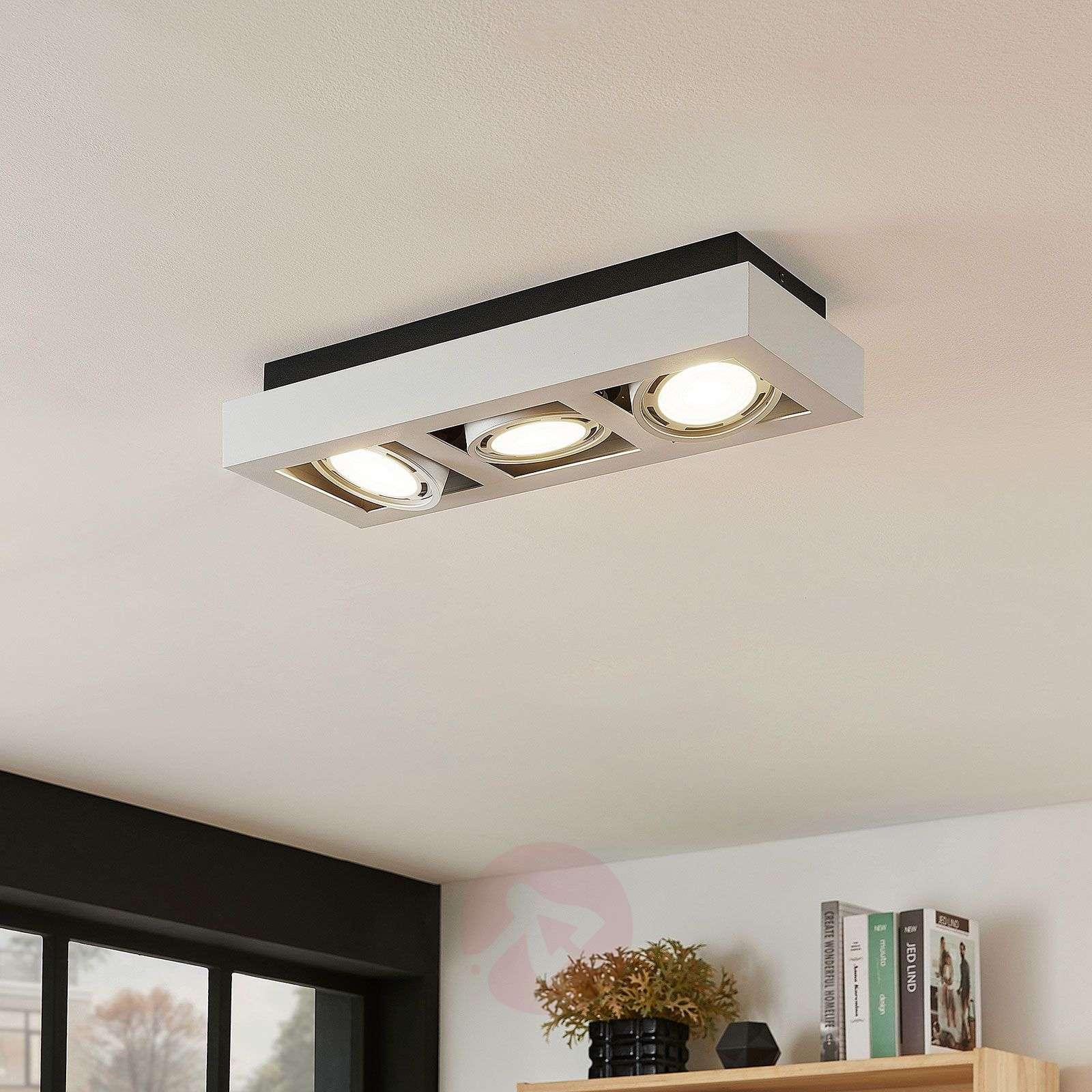 LED-kattospotti Ronka, GU10, 3-lamppuinen, valk.-9624450-01