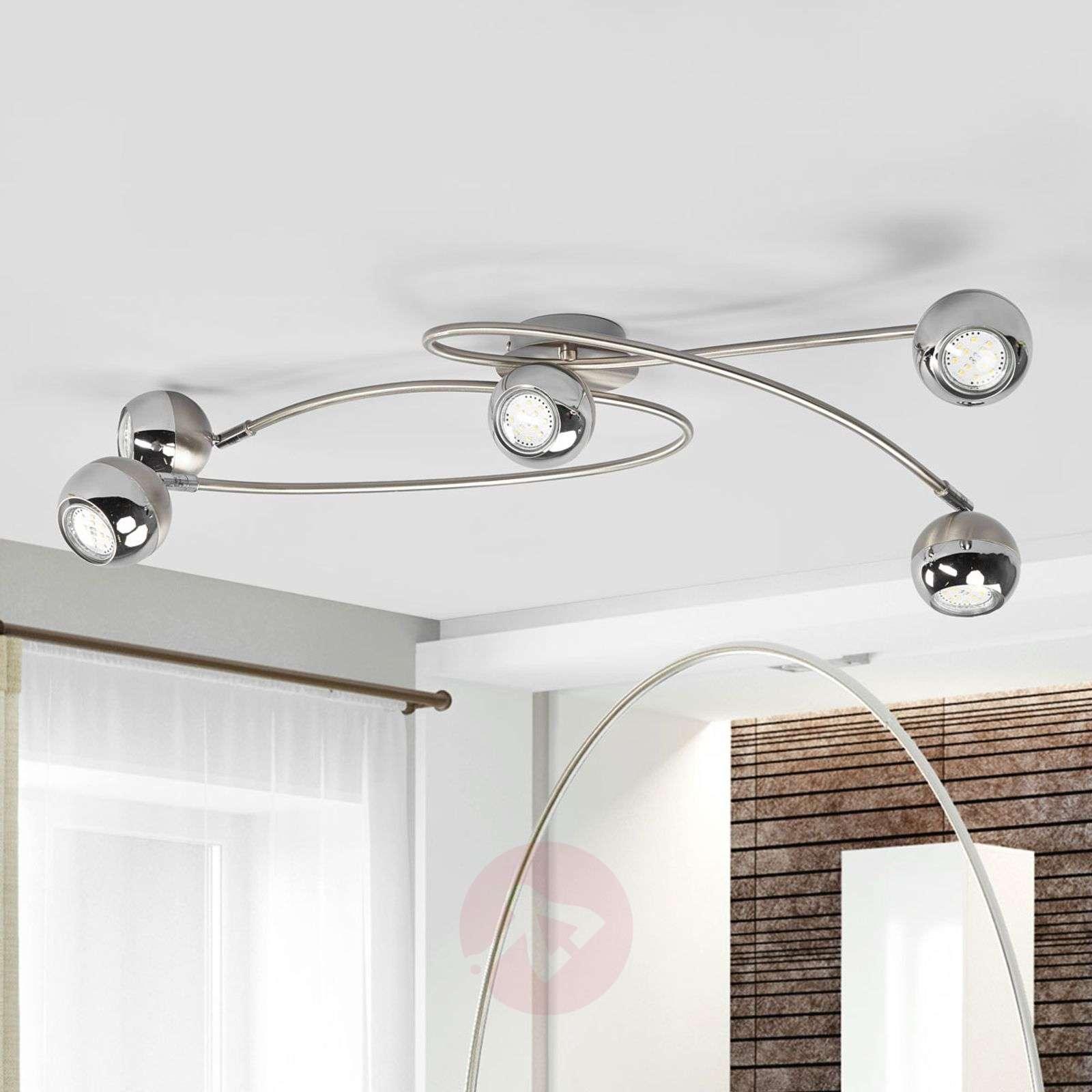 LED-kattovalaisin Arvin, matta nikkeli-9970121-01
