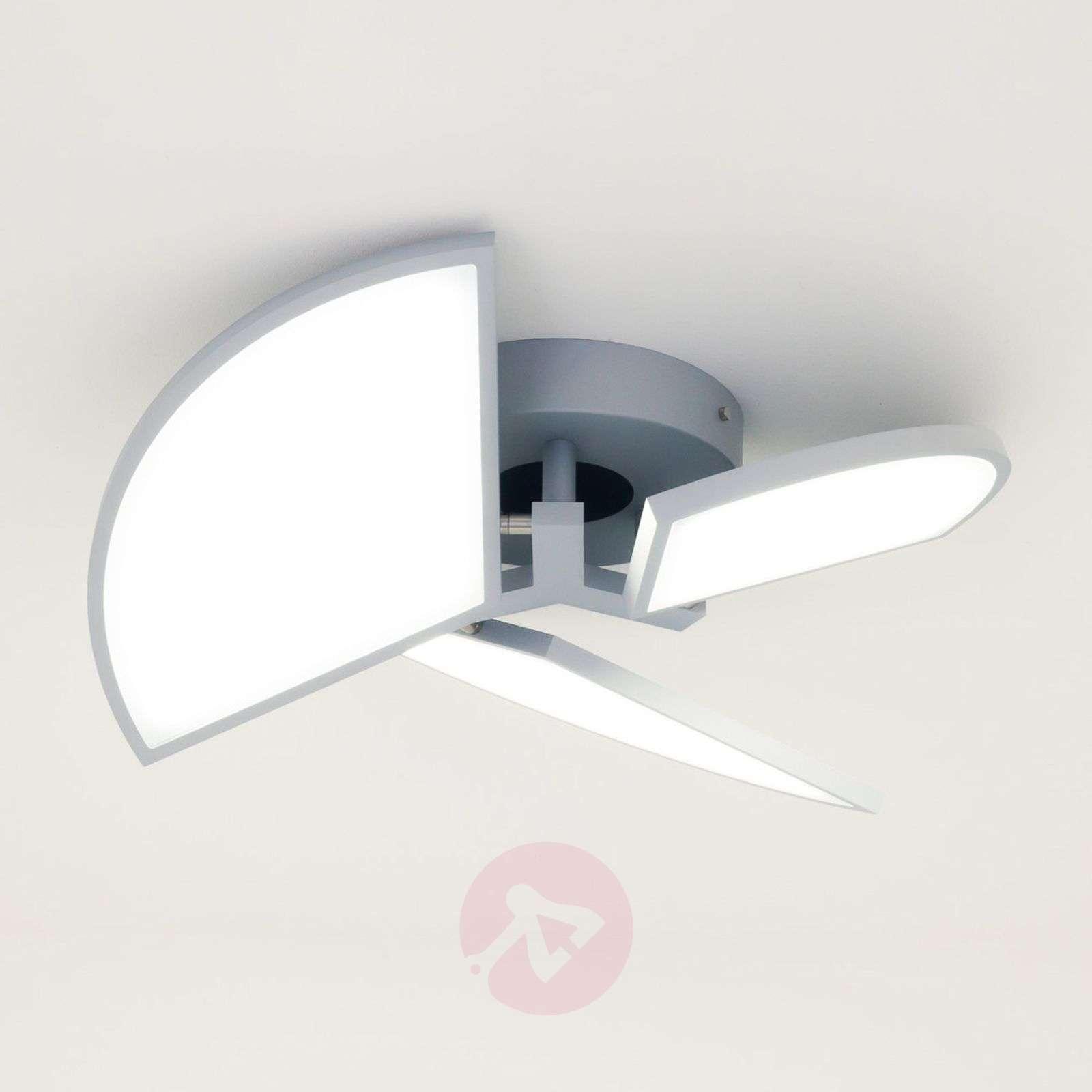 LED-kattovalaisin Aurela hopea 3-lamppuinen-3056002-01