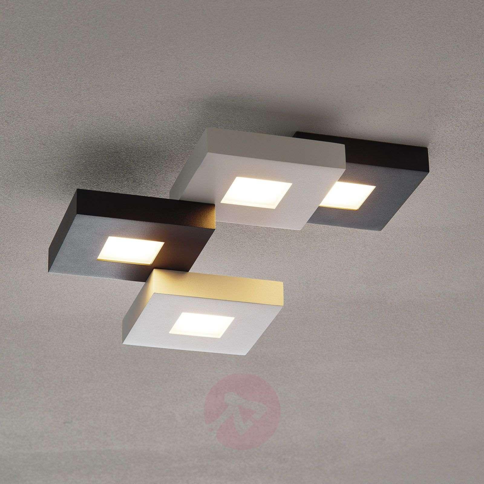 LED-kattovalaisin Cubus mustavalk. 4-lamppuinen-1556076-01