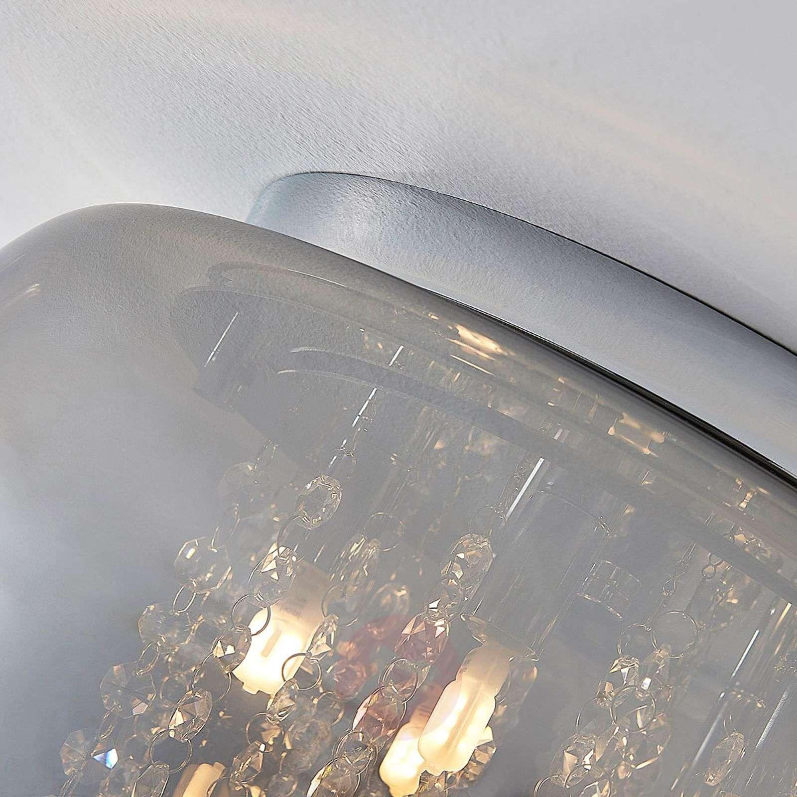 LED-kattovalaisin Joani, savunharmaa lasi-9621841-01