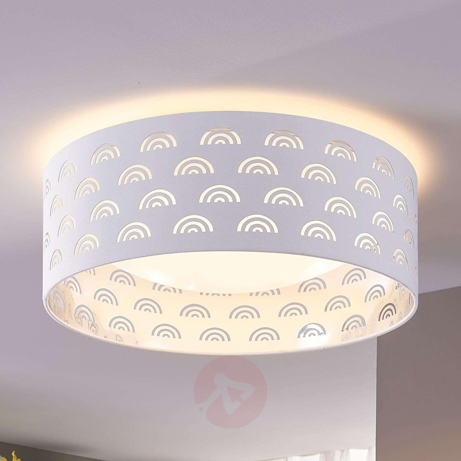LED-kattovalaisin Jorunn, valk./sisäpuoli hopea-9620940-01
