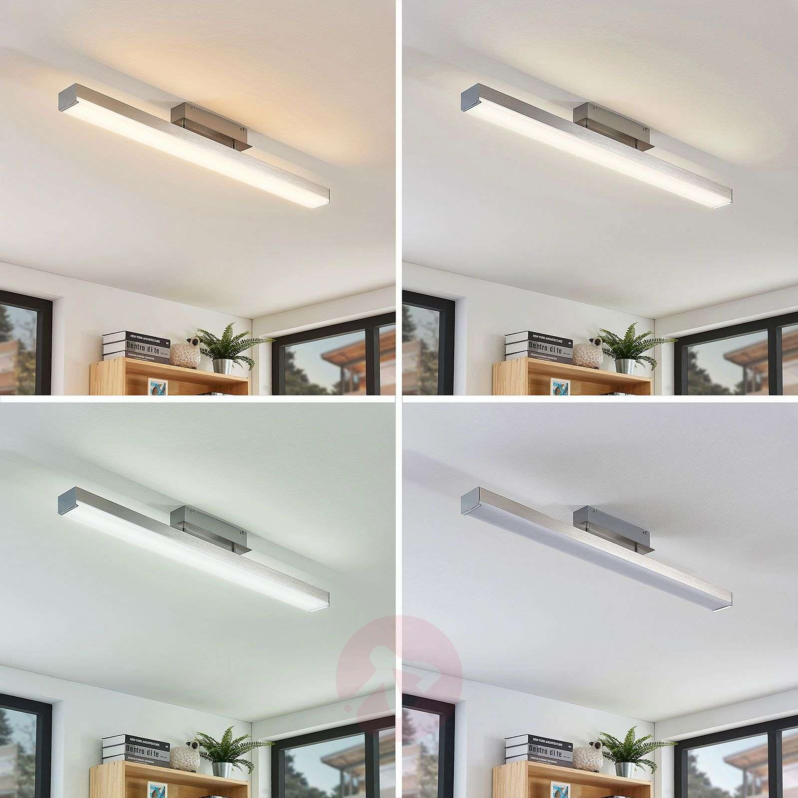 LED-kattovalaisin Keyan WiZ kulmikas pitkä nikkeli-8032181-02