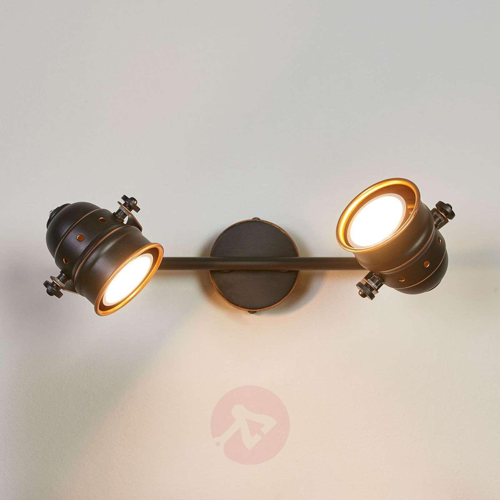 LED-kattovalaisin Leonor, musta ja kulta, GU10-9639067-01
