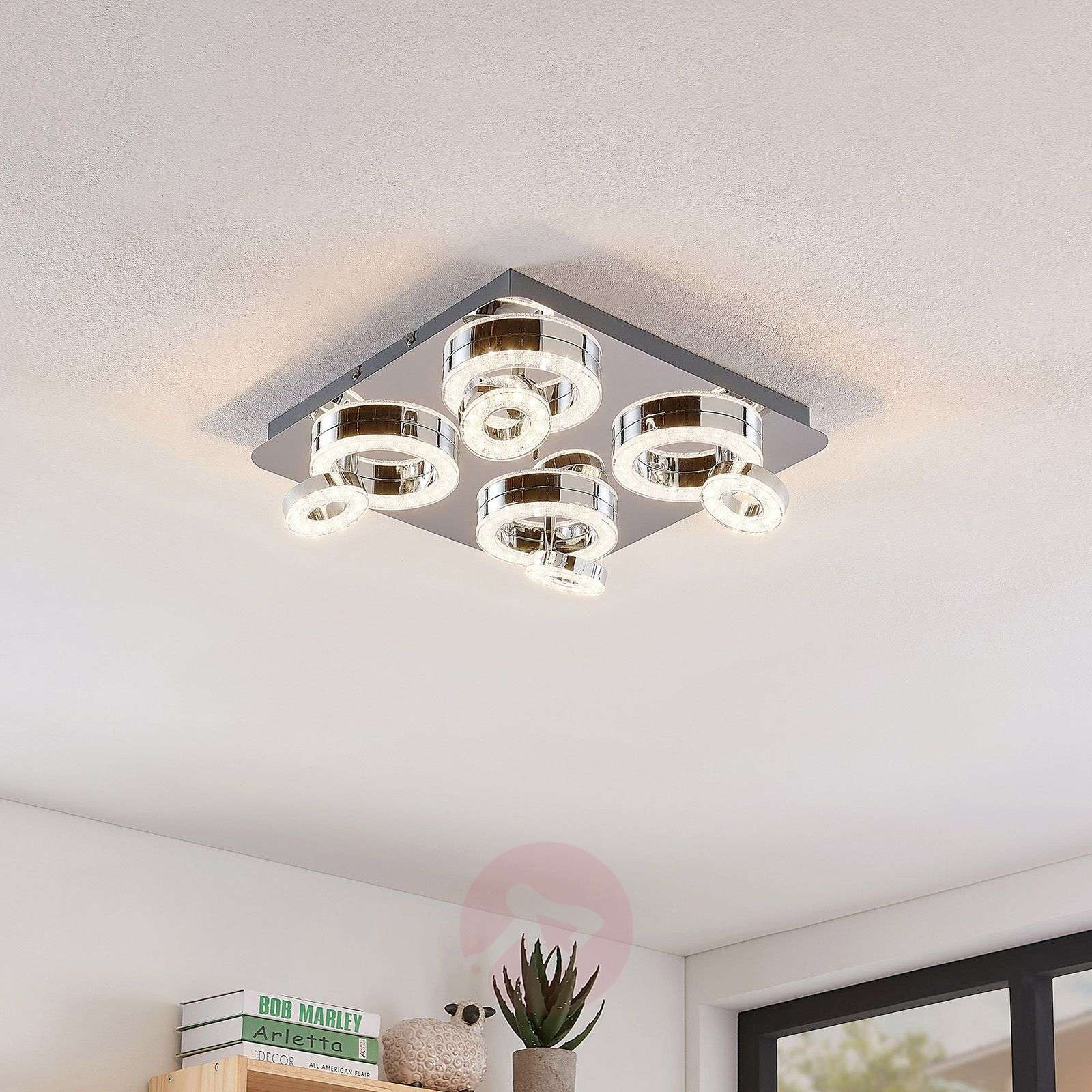 LED-kattovalaisinMikkel, RGBW 40x40cm-7620064-02