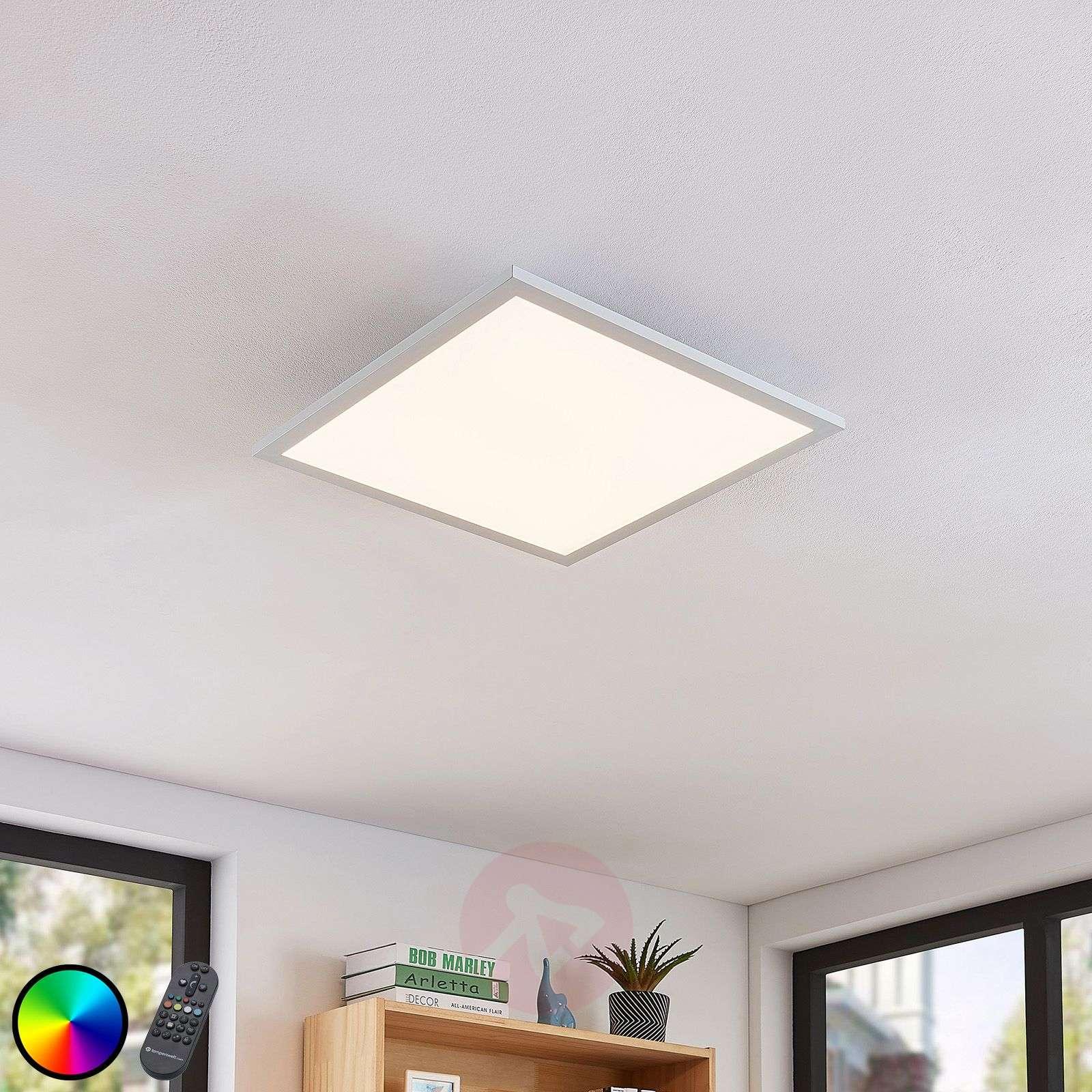 LED-kattovalaisin Milian kaukosäätimellä 45x45cm-7620059-02