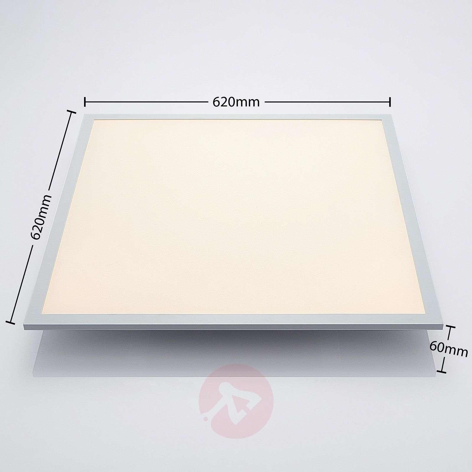 LED-kattovalaisin Milian kaukosäätimellä 62x62cm-7620060-02