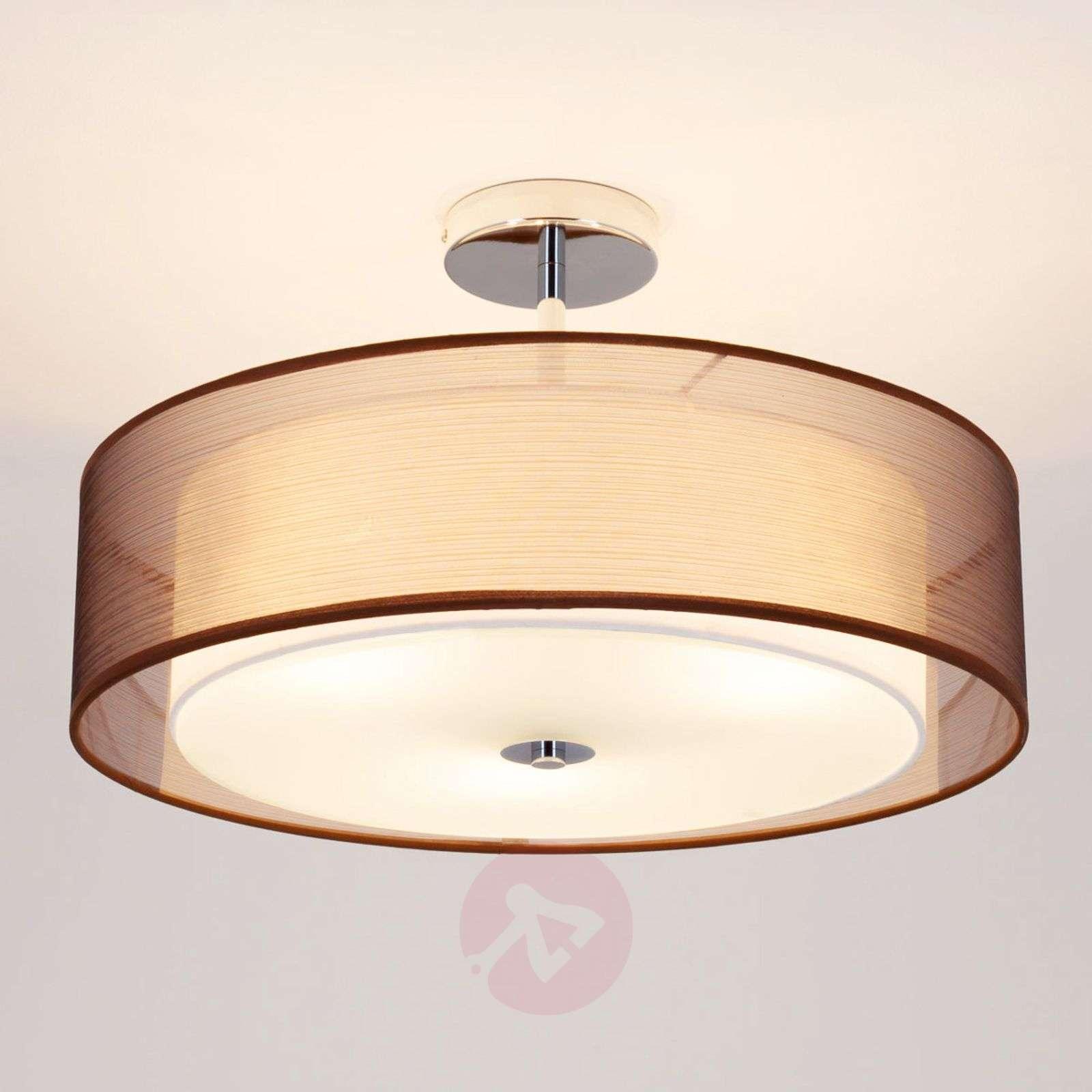 LED-kattovalaisin Pikka, ruskea varjostin-9620152-01
