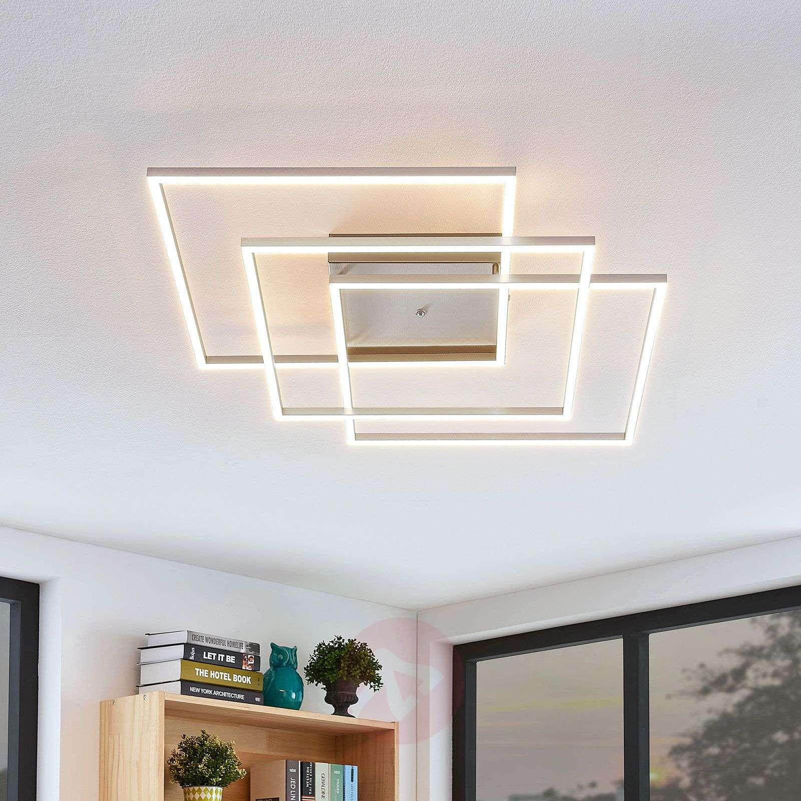 LED-kattovalaisin Quadra, himmennettävä, 3-lampp.-7620072-03