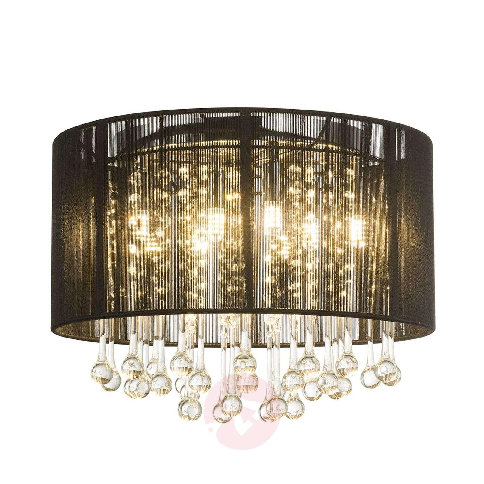LED-kattovalaisin Sierra, silkkivarjostin, riipus-4015031-01