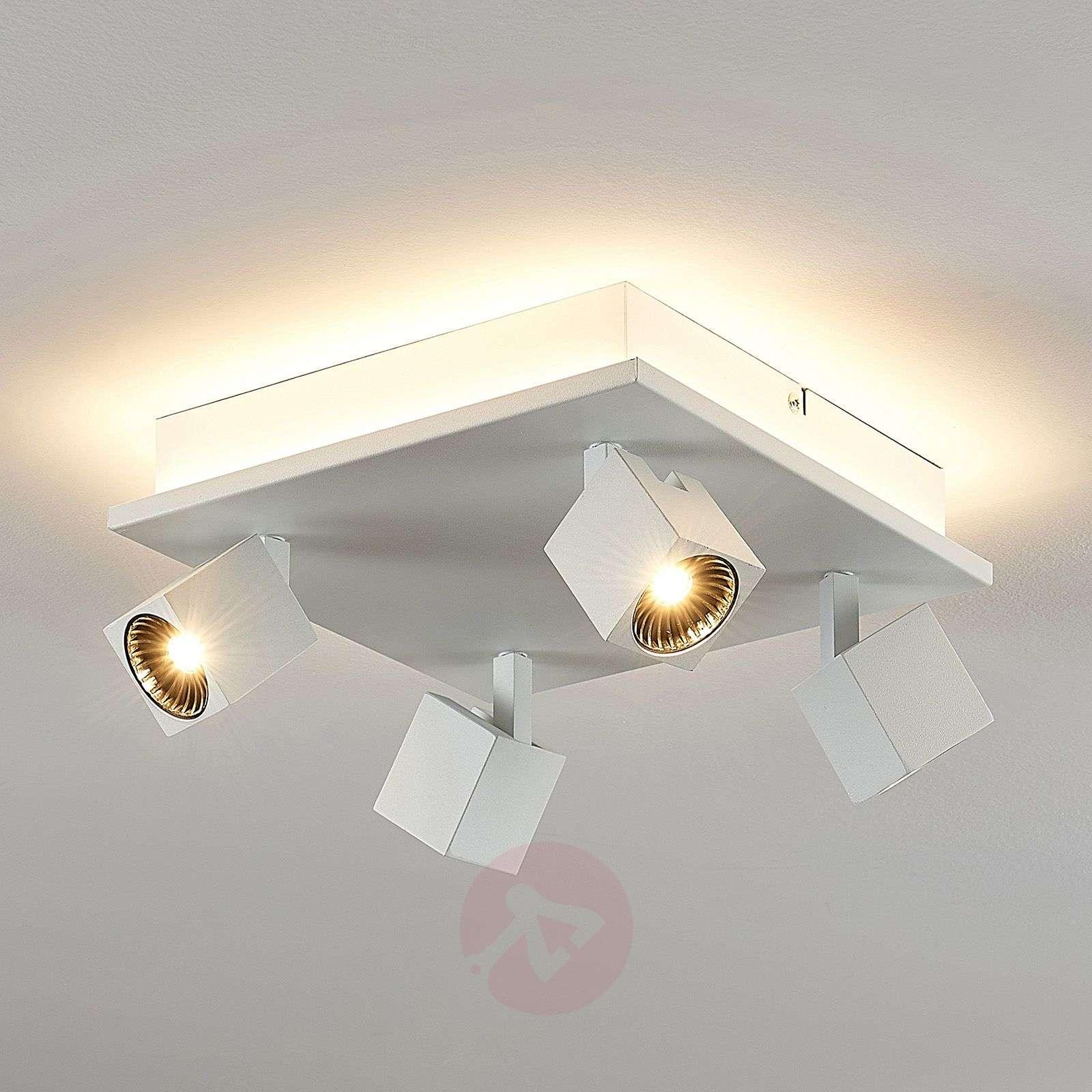 LED-kattovalaisin Taly, 4 kohdevalaisinta, neliö-8032167-02