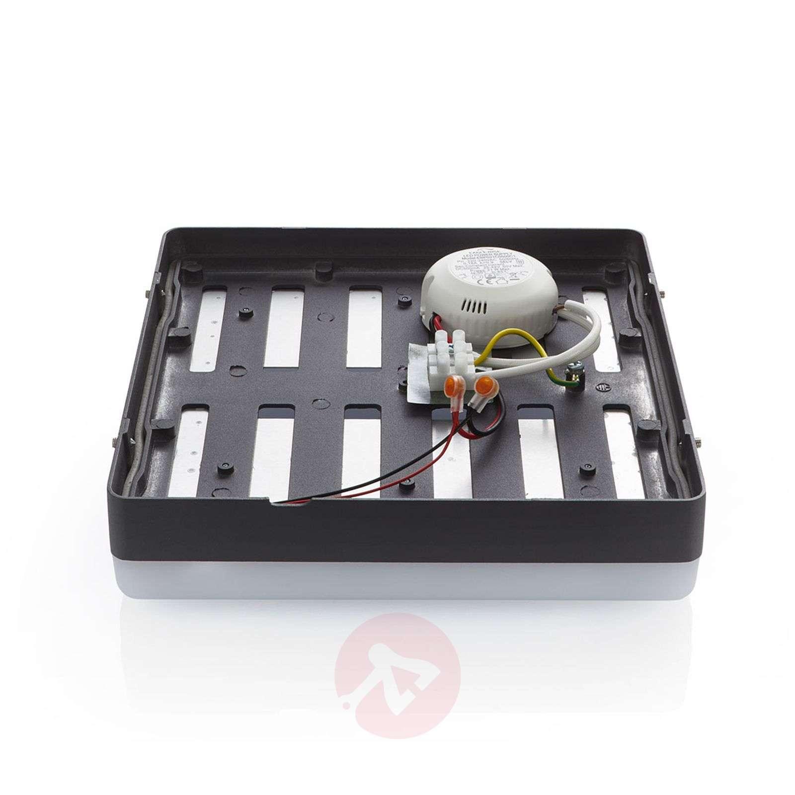 LED-kattovalaisin Thilo, harmaa, 24 cm-9969091-02
