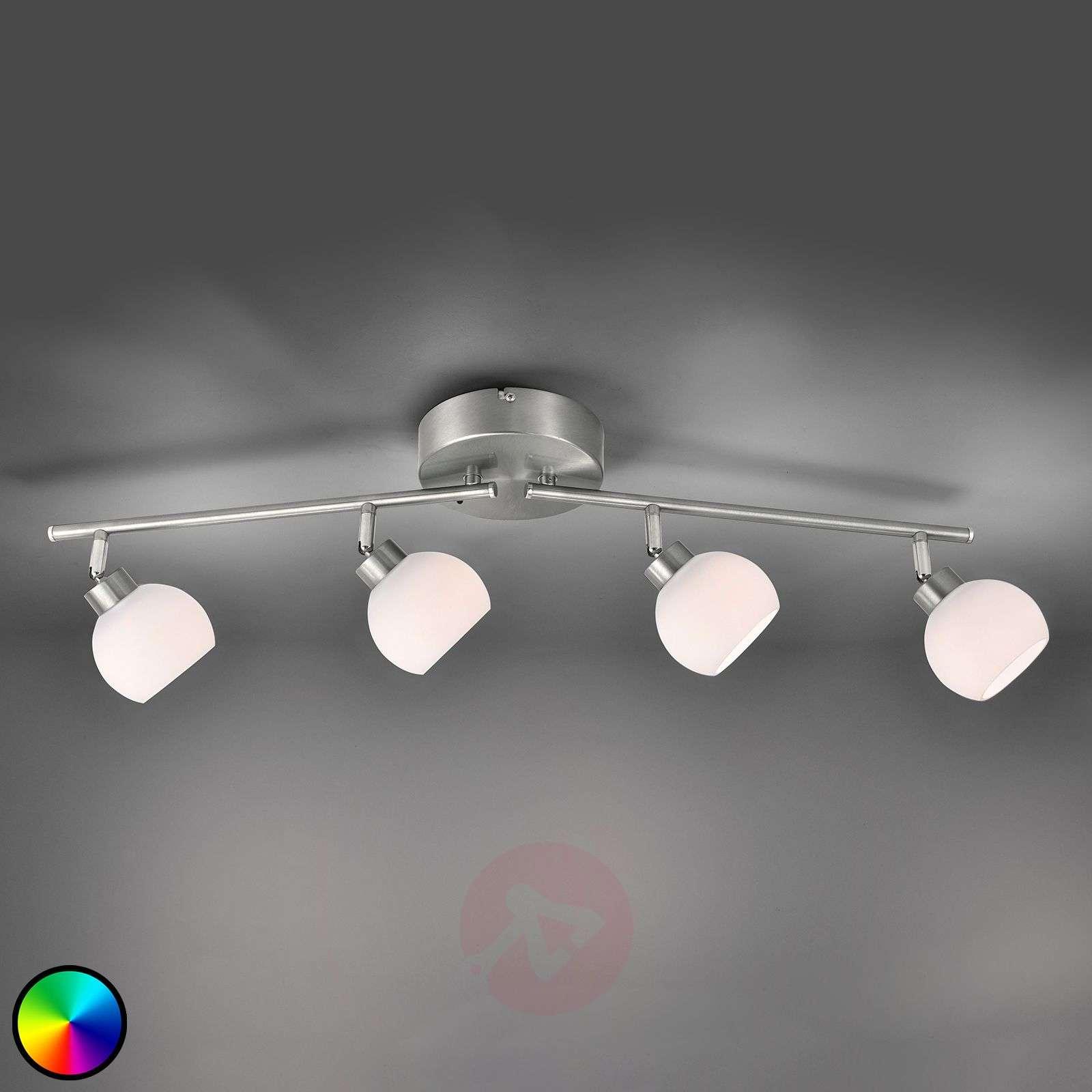 LED-kattovalaisin Yaeka, 4-lamppuinen, kaukosäädin-7620046-02