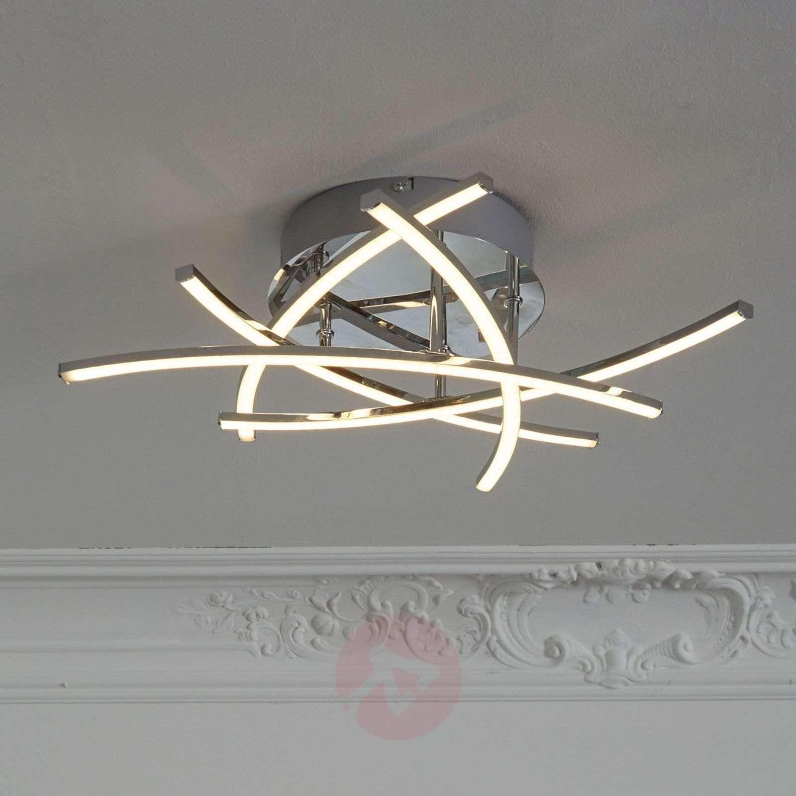 LED-kattovalo Cross, tunable white 5 lamppua kromi-4581570-01