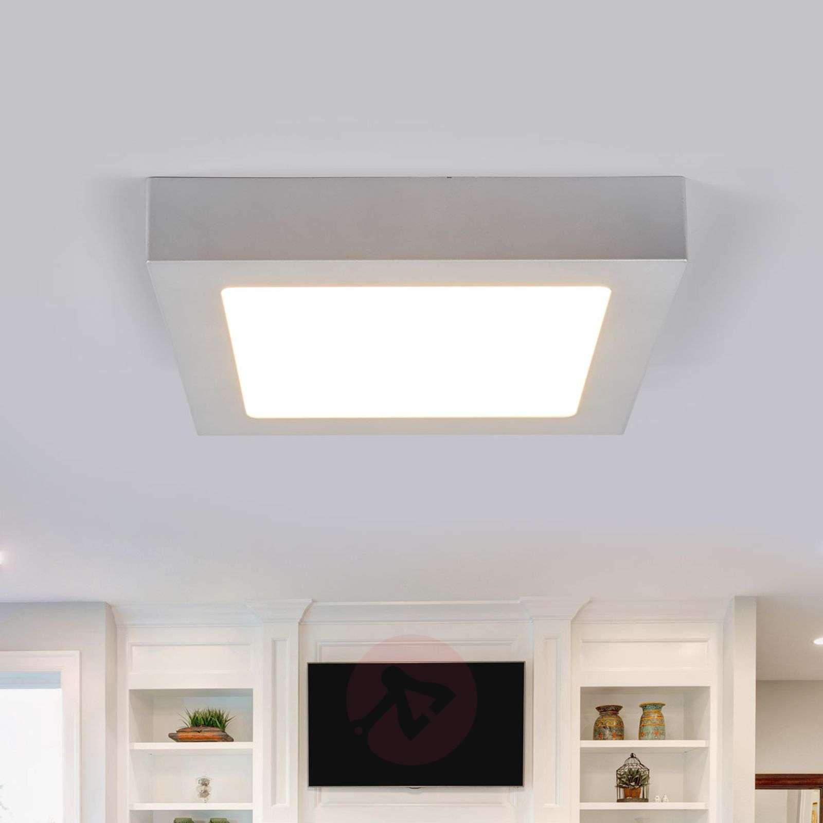 LED-kattovalo Marlo hopea 3000K kulmikas 23,1 cm-9978056-02