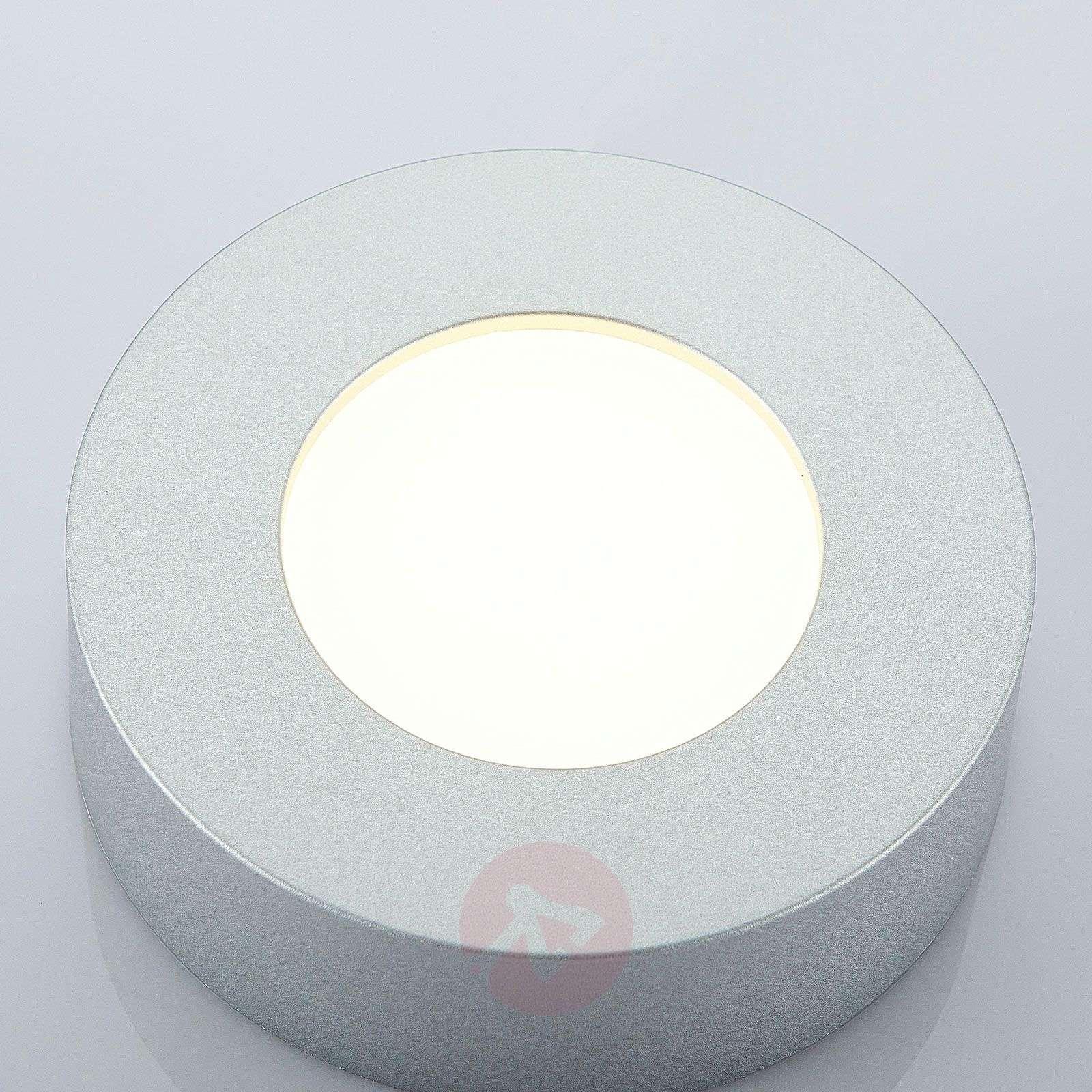 LED-kattovalo Marlo hopea 3000K pyöreä 12,8 cm-9978051-02