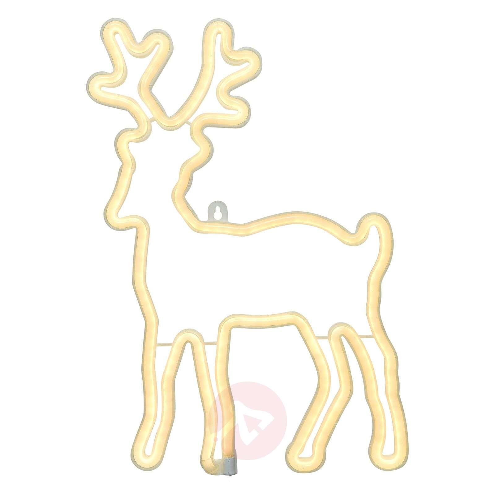 LED-koristekuva Neonflex, peura, ulkotiloihin-5527196-01