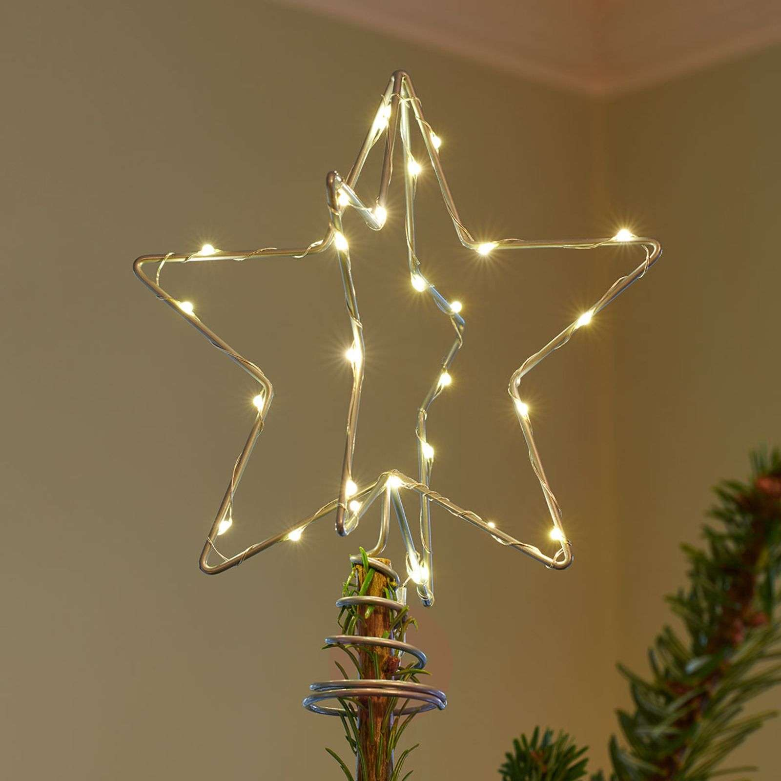 LED-koristevalaisin Christmas Top, hopea-8577270-01