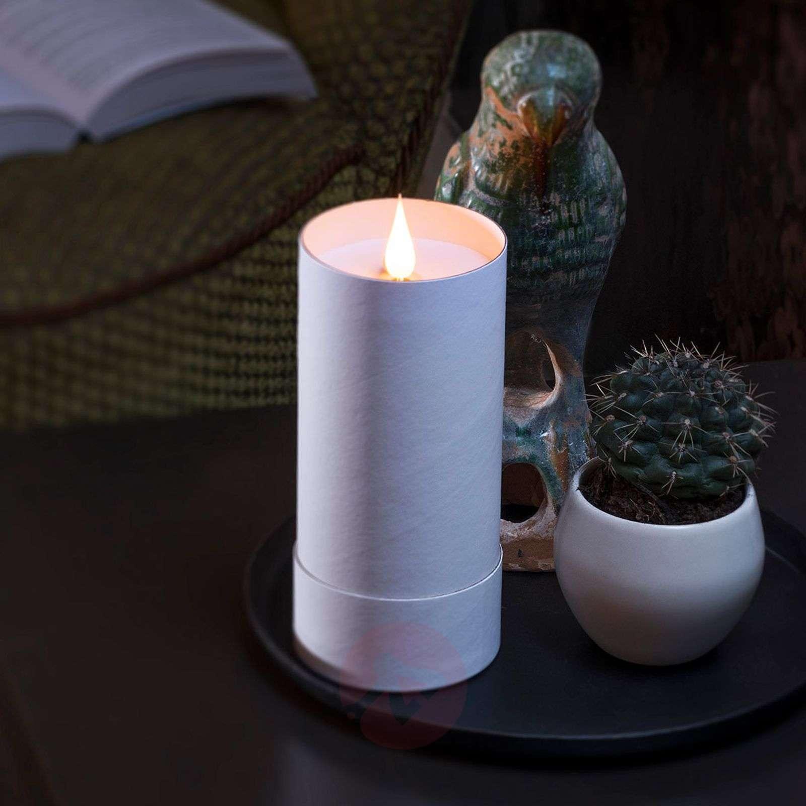 LED-kynttilä sylinterissä + kansi 3D liekki-5524832X-01