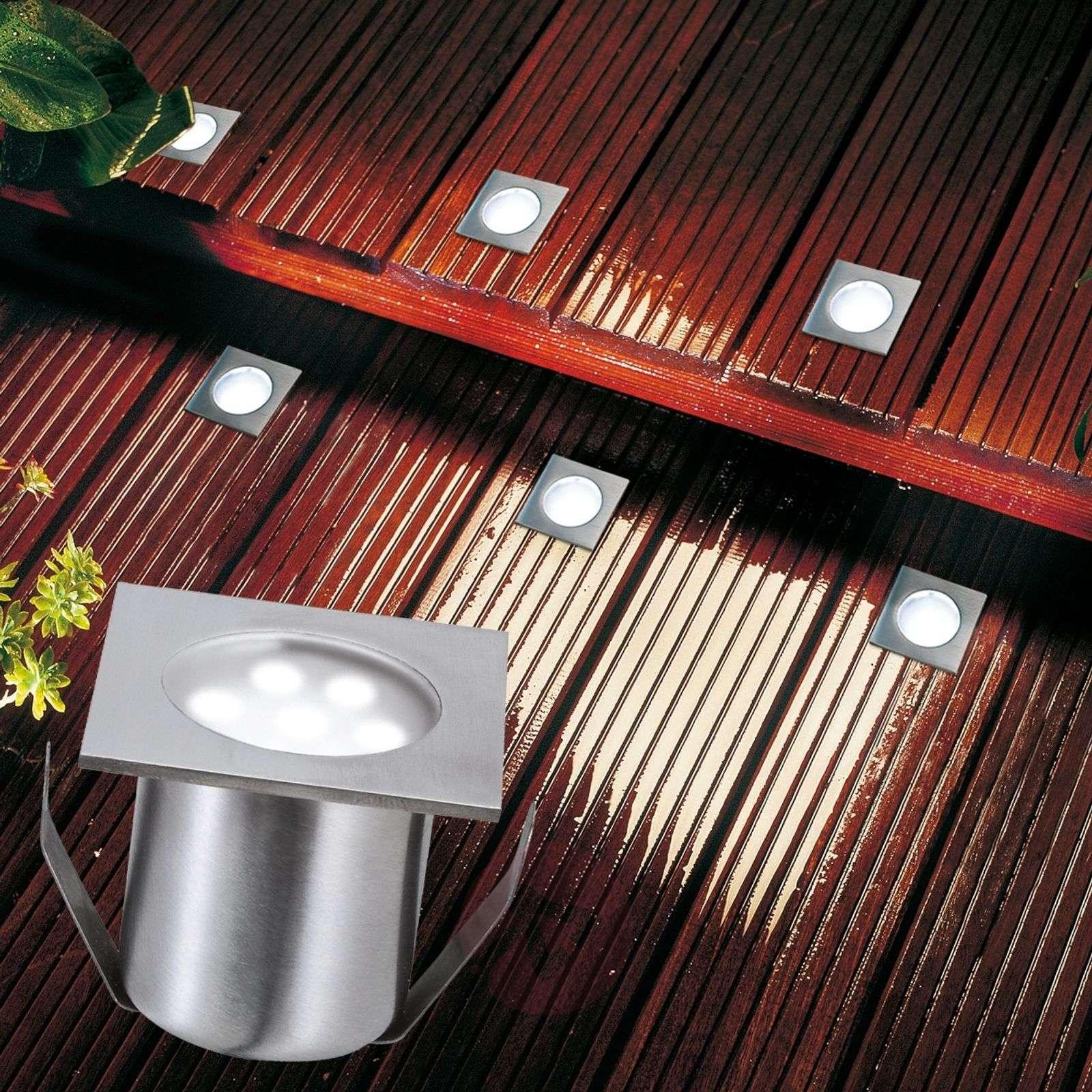 LED-lattiaspotti PROFI MINI, perussetti, nelikulm.-7500882-02