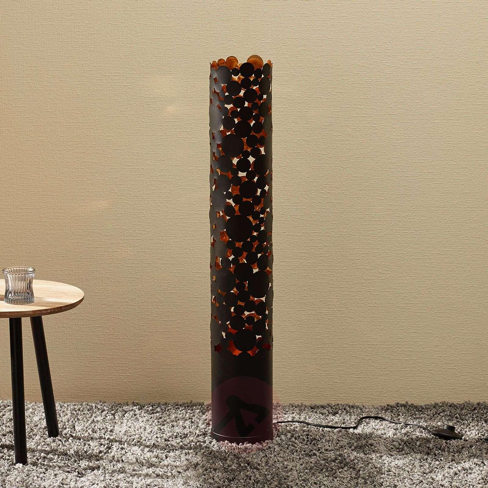 LED-lattiavalaisin Coins, liekkiefekti, musta-9945298-02