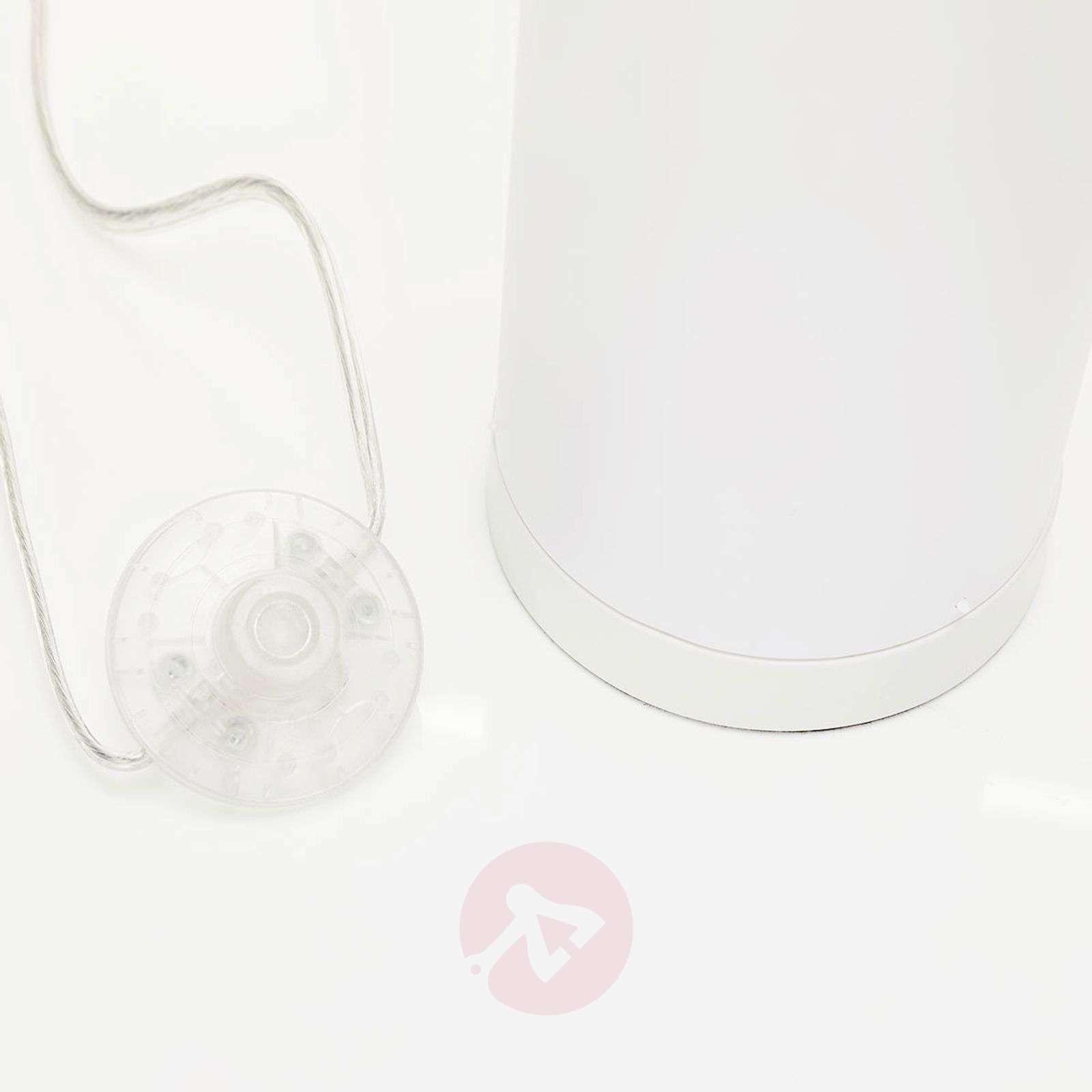 LED-lattiavalaisin Coins, liekkiefekti, valkoinen-9945297-02