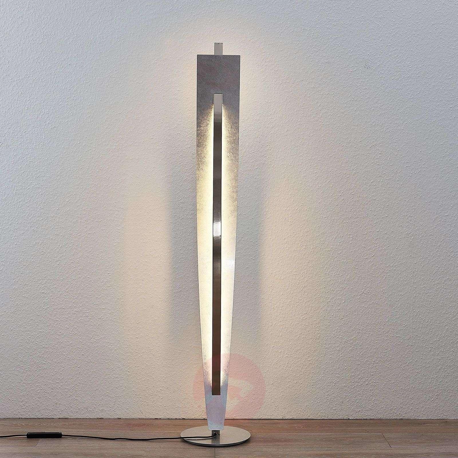 LED-lattiavalaisin Marija, hopeanvärinen-9639118-01