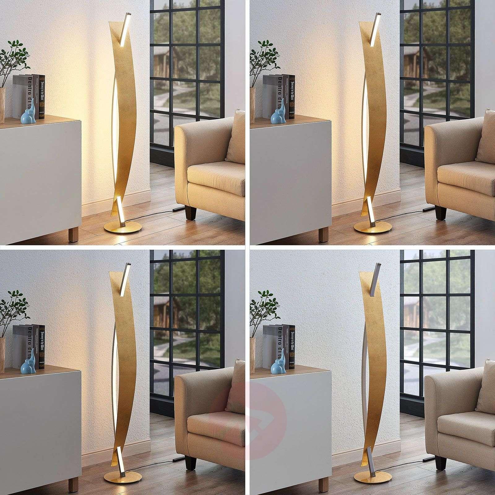 LED-lattiavalaisin Marija, ylellinen kultaoptiikka-9639113-01