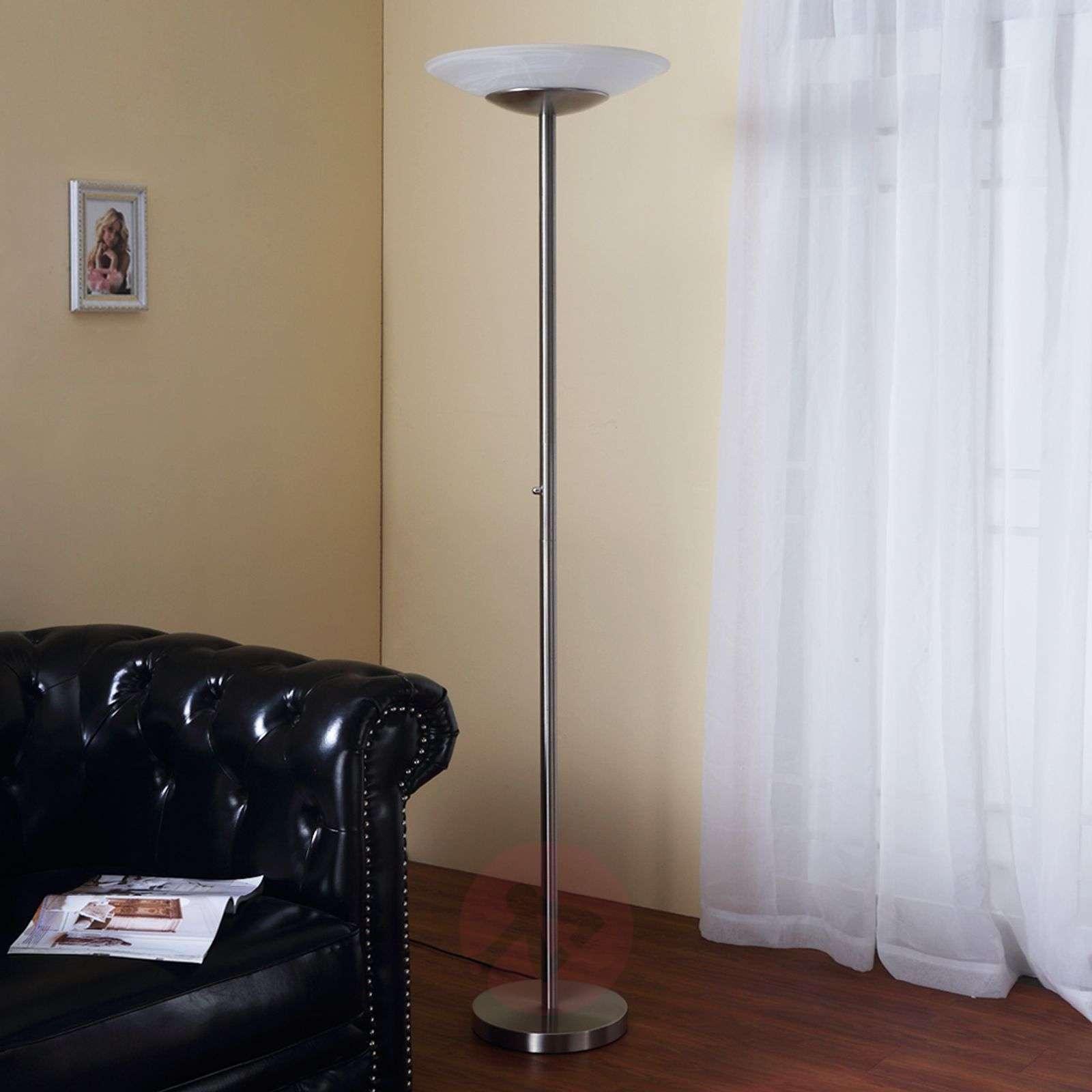 LED-lattiavalaisin Ragna, himmennin, matta nikkeli-9620649-02