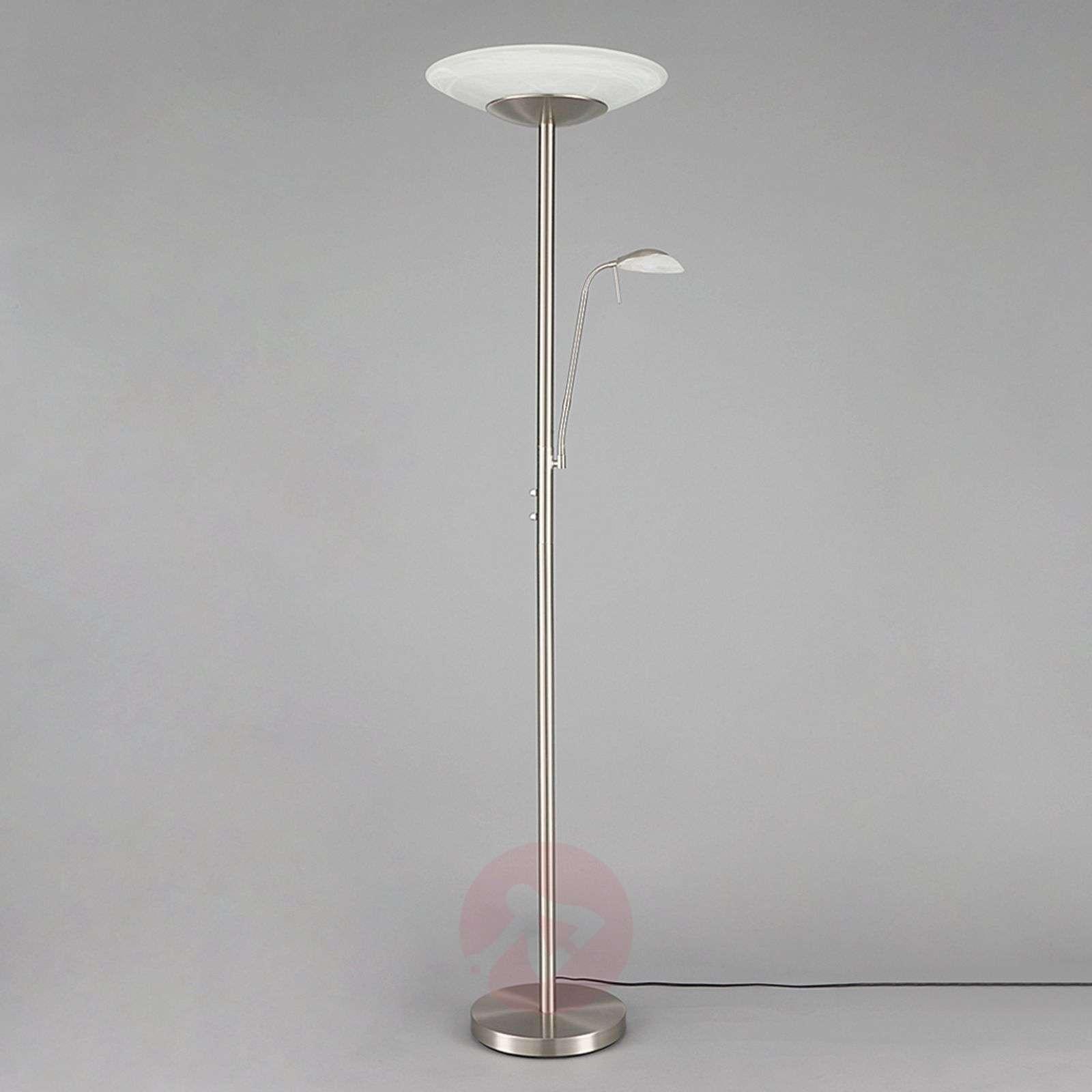 LED-lattiavalaisin Ragna lukuvalolla,matta nikkeli-9620651-03