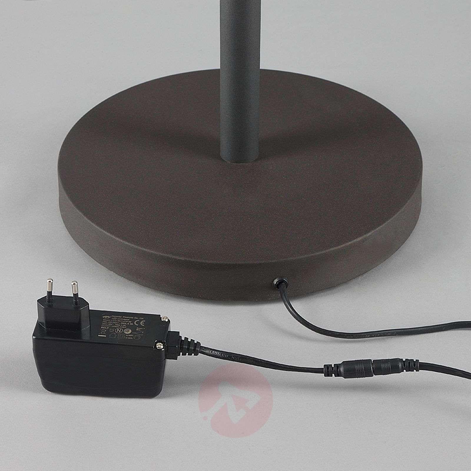 LED-lattiavalaisin Ragna lukuvalolla, ruostevärit-9620650-011