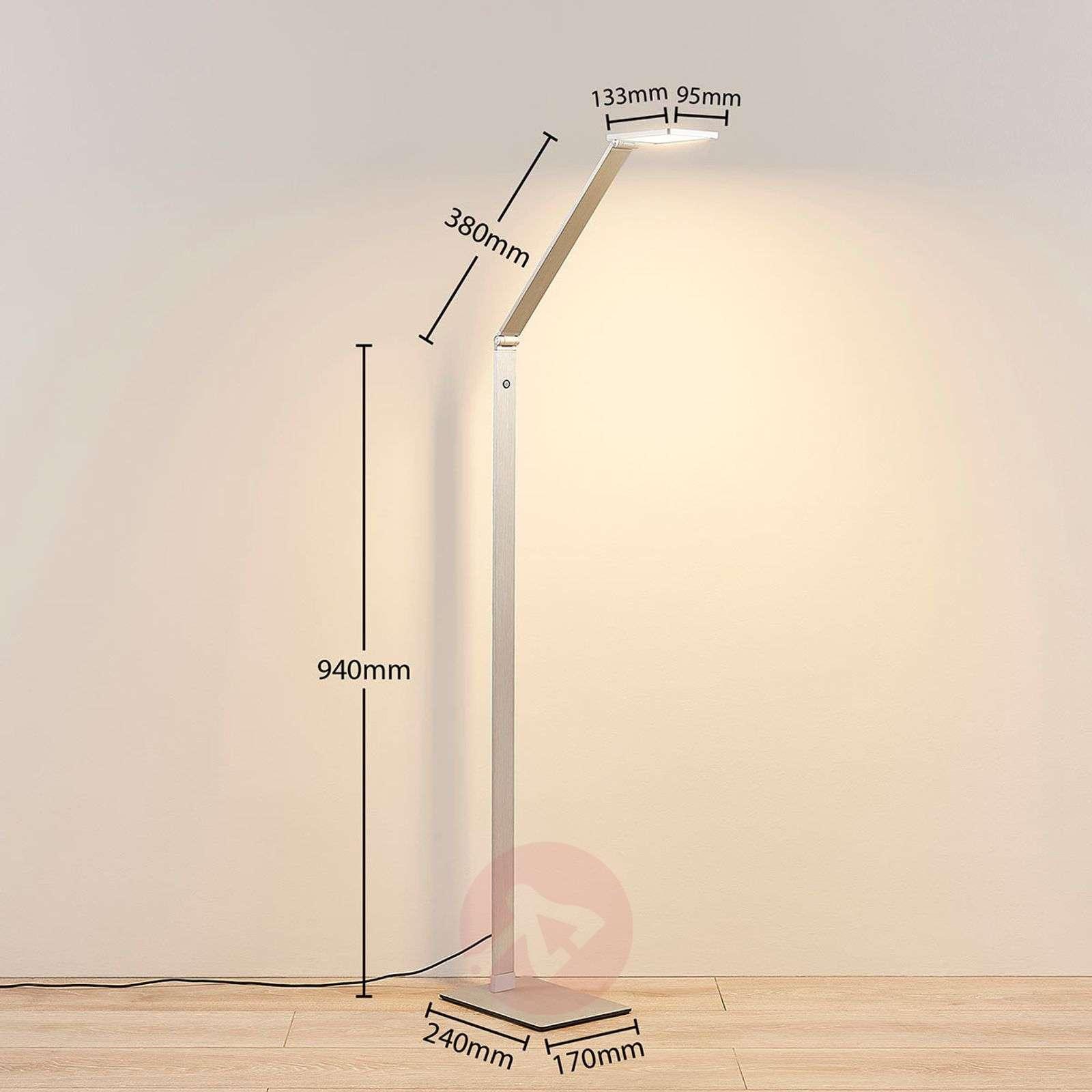 LED-lattiavalaisin Resi, himmennin, hyvä lukuvalo-9621664-04