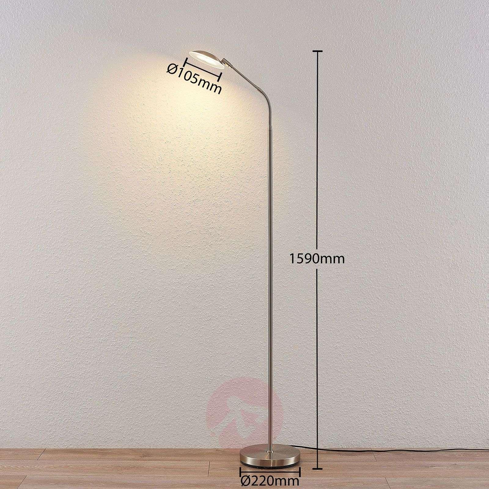 LED-lukuvalaisin Meghan, säädettävä, nikkeli-9945380-01