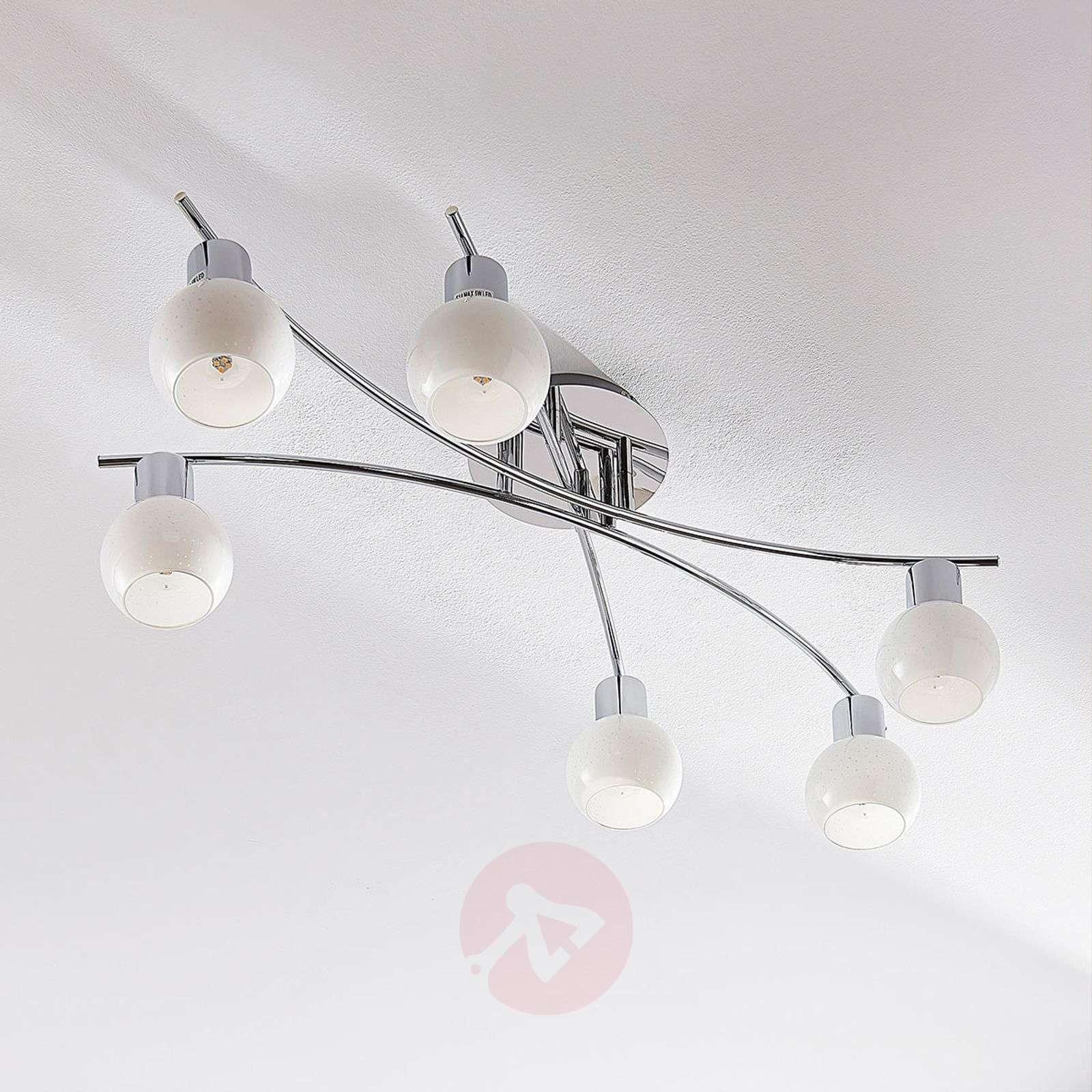 LED-opaalilasikattovalaisin Matthea, 6-lamppuinen-9621597-02