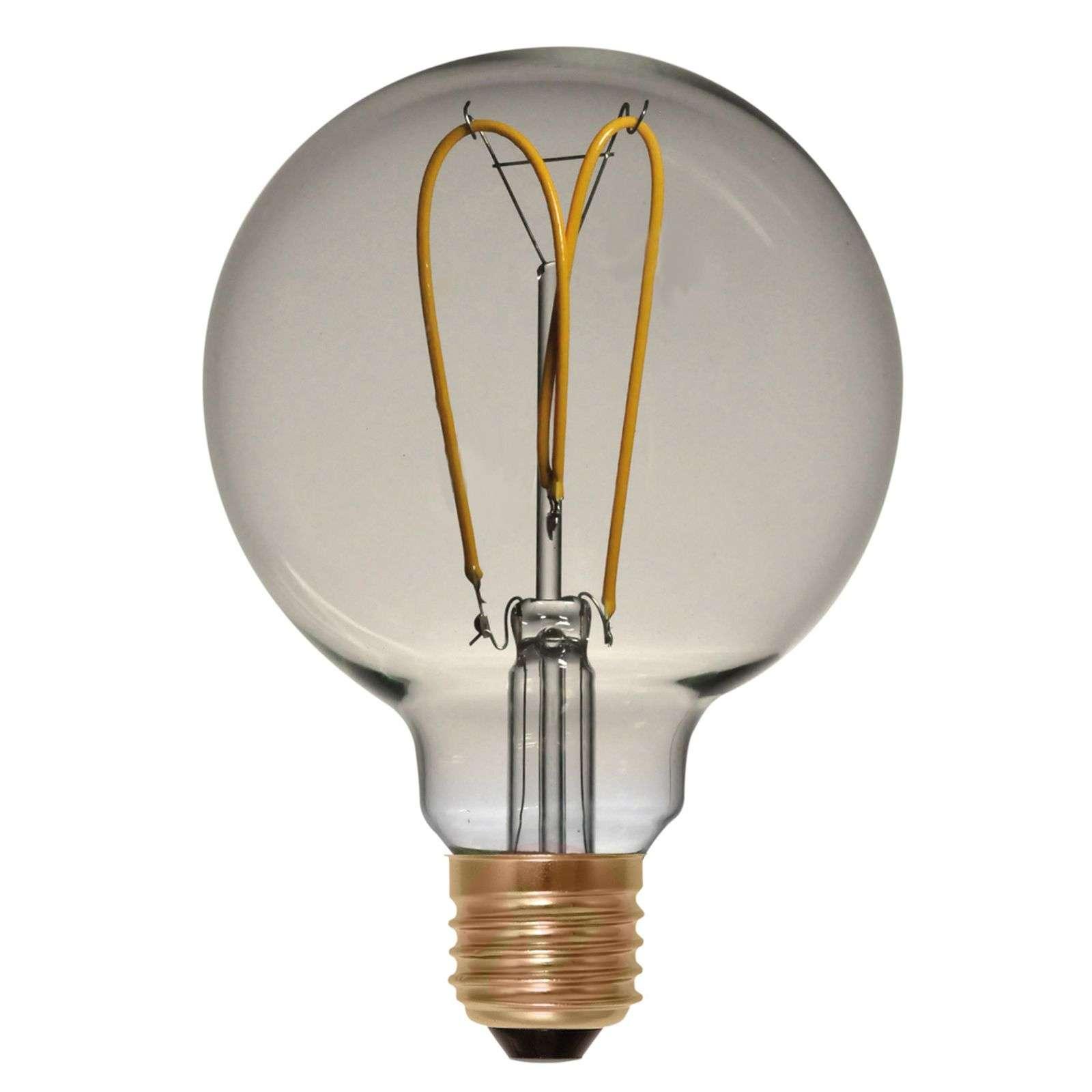 LED-pallo G125 E27 4W 922 Curved Line, kulta-8536169-01