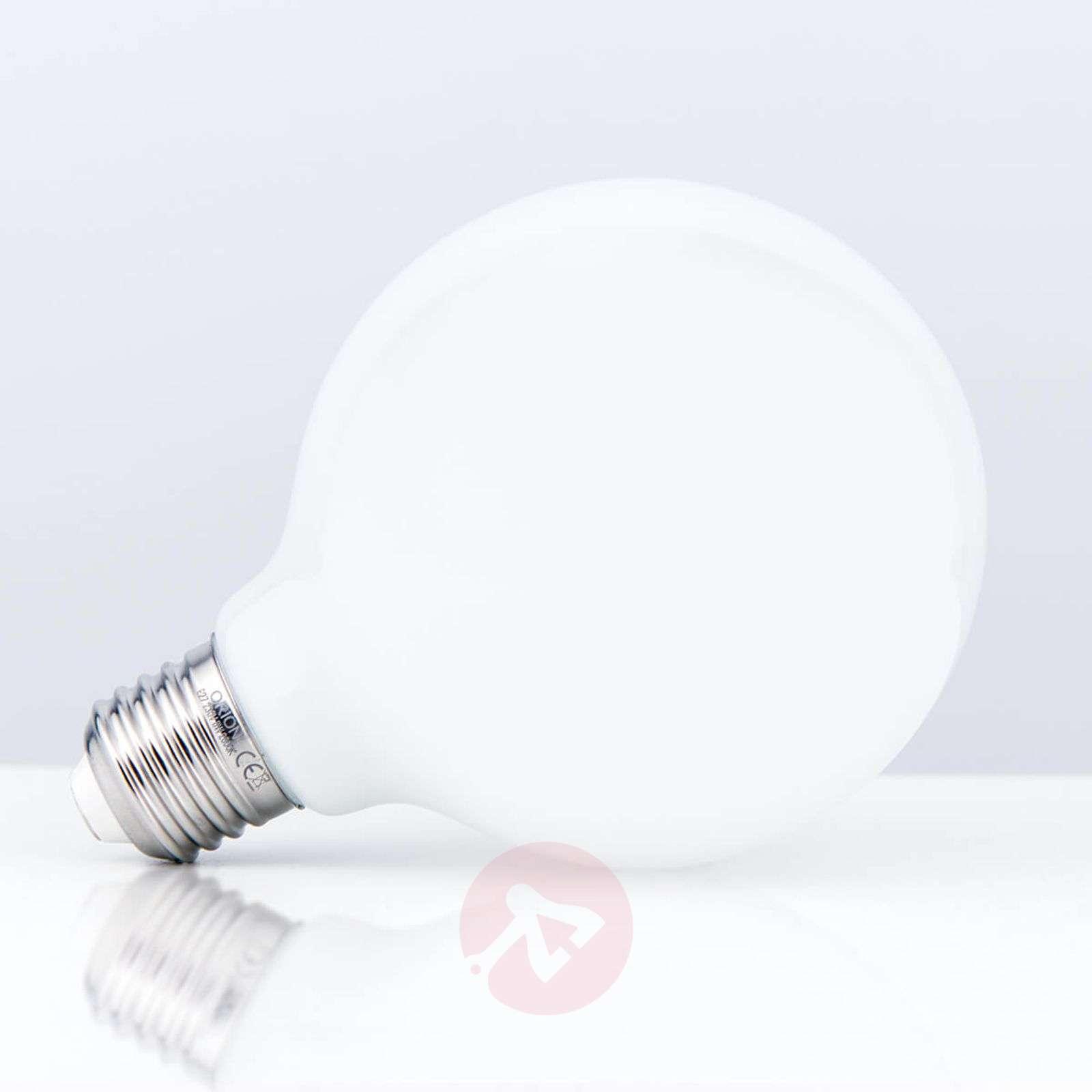 LED-pallolamppu G95 E27 8W 828, opaali
